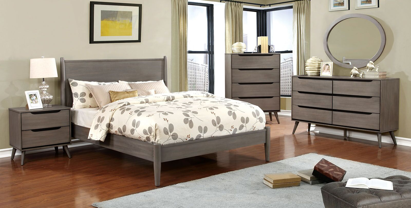 Eckles Platform Bed Size: King, Color: Gray