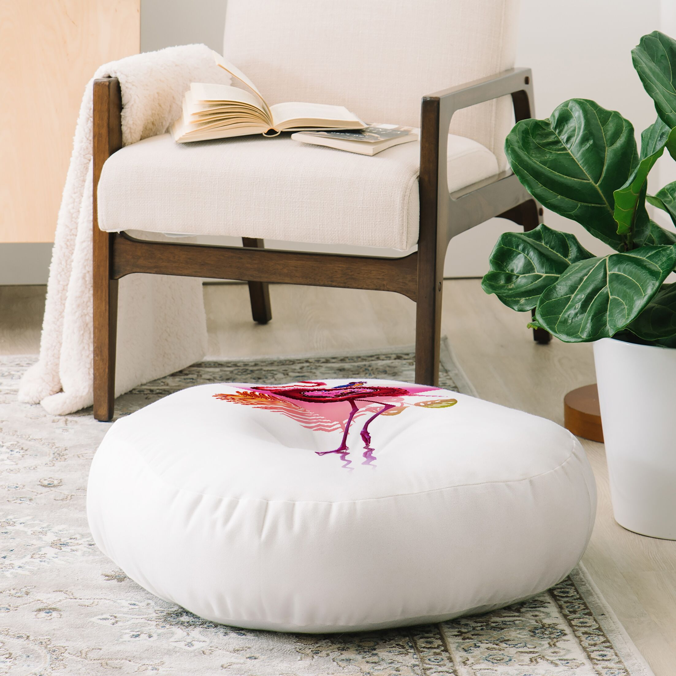 Ali Gulec Flamingo Pals Floor Pillow