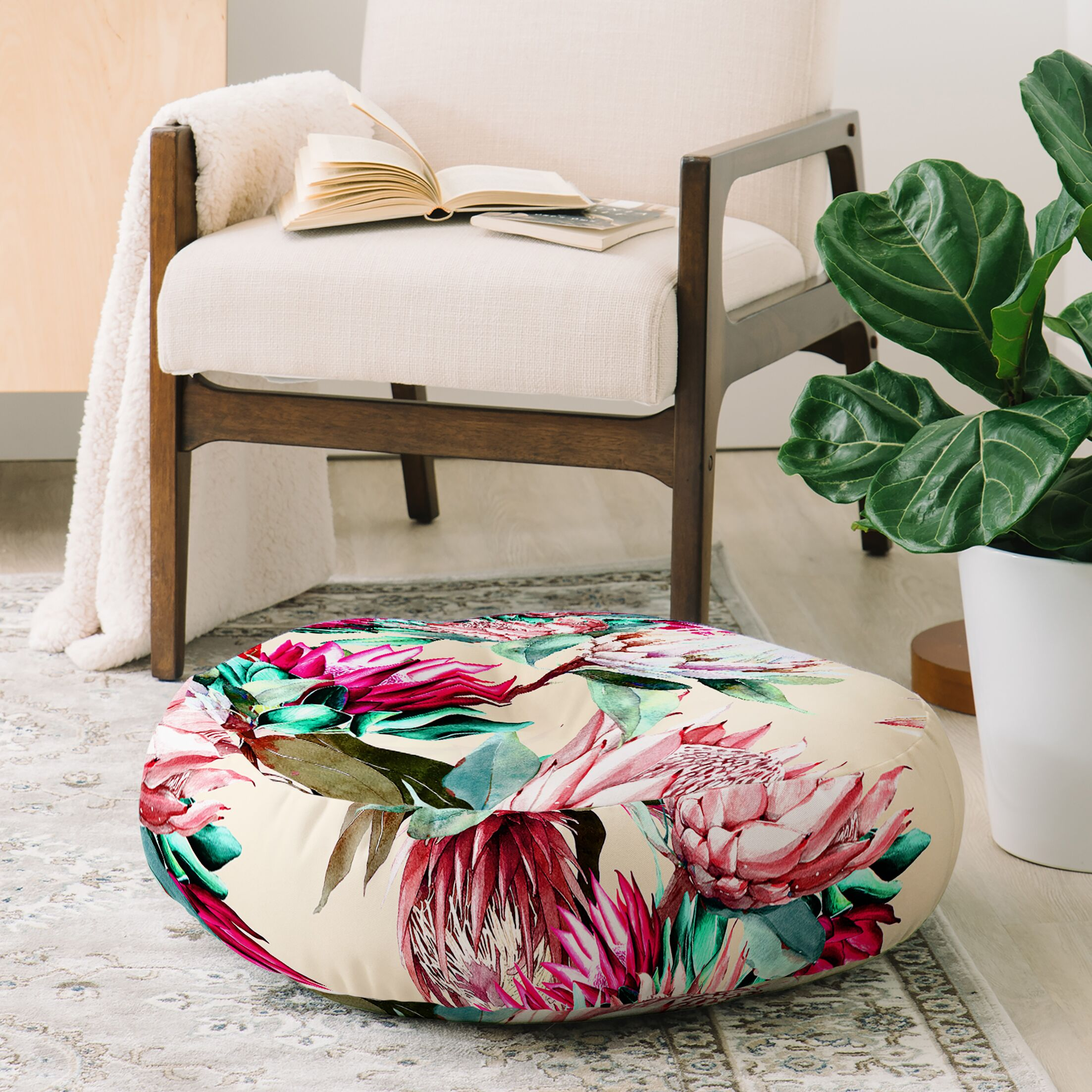 Marta Barragan Camarasa King Proteas Bloom Floor Pillow