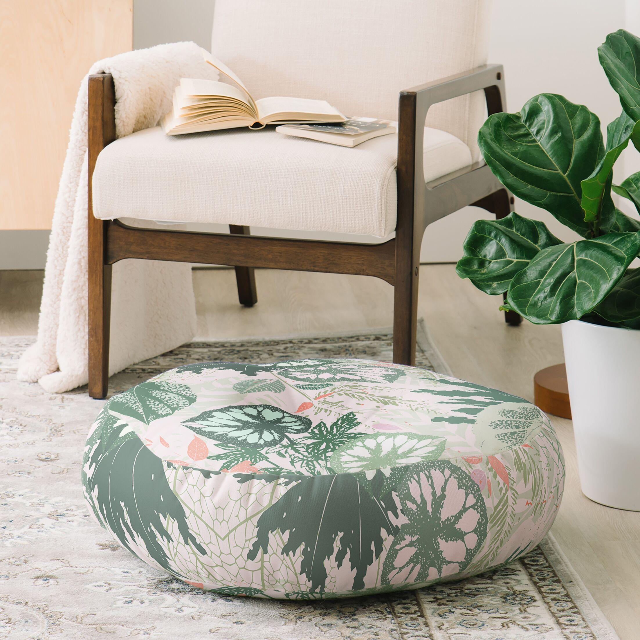 Iveta Abolina Alocasia Garden Floor Pillow Color: Green