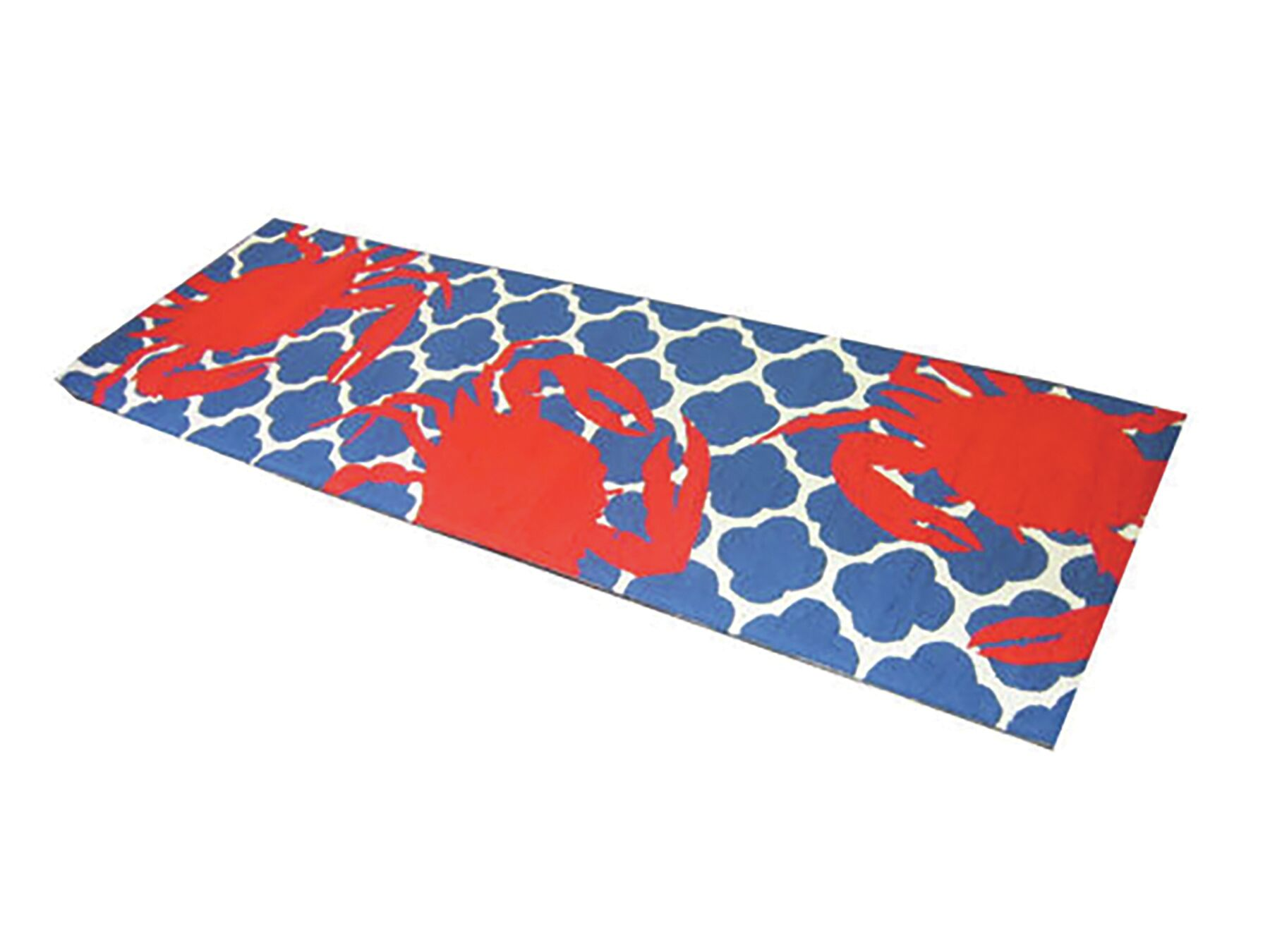 Kara Ogee Hand-Hooked Wool Red/Blue Area Rug Rug Size: Runner 2'7