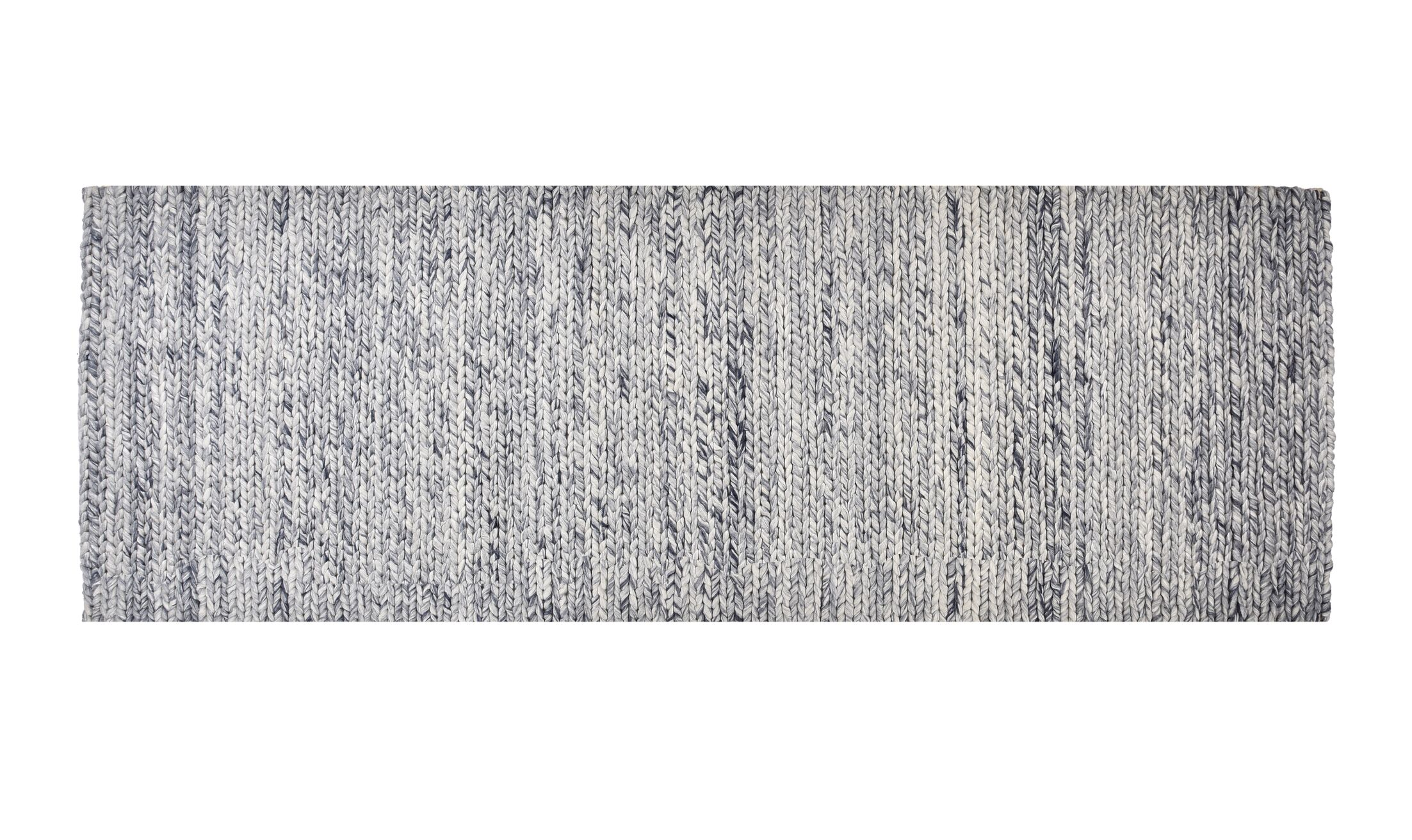 Colton Hand-Woven Wool Blue Ash Area Rug Rug Size: Runner 2' x 6'