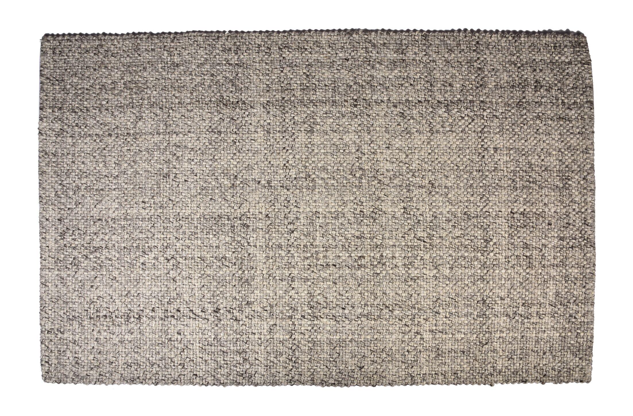 Botello Hand-Woven Wool Ash Gray Area Rug Rug Size: Rectangle 8' x 10'