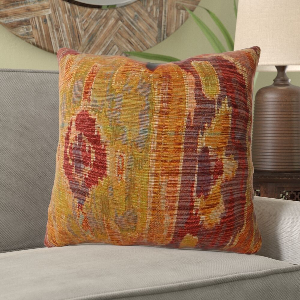Montemayor Ikat Luxury Sofa Pillow Fill Material: H-allrgnc Polyfill, Size: 12