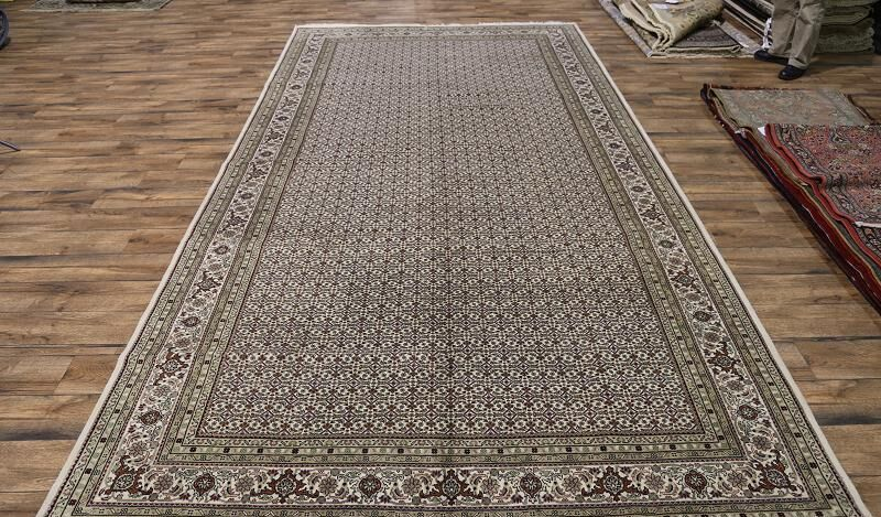 One-of-a-Kind Schiavone Oriental Hand-Knotted Wool Beige/Brown Area Rug