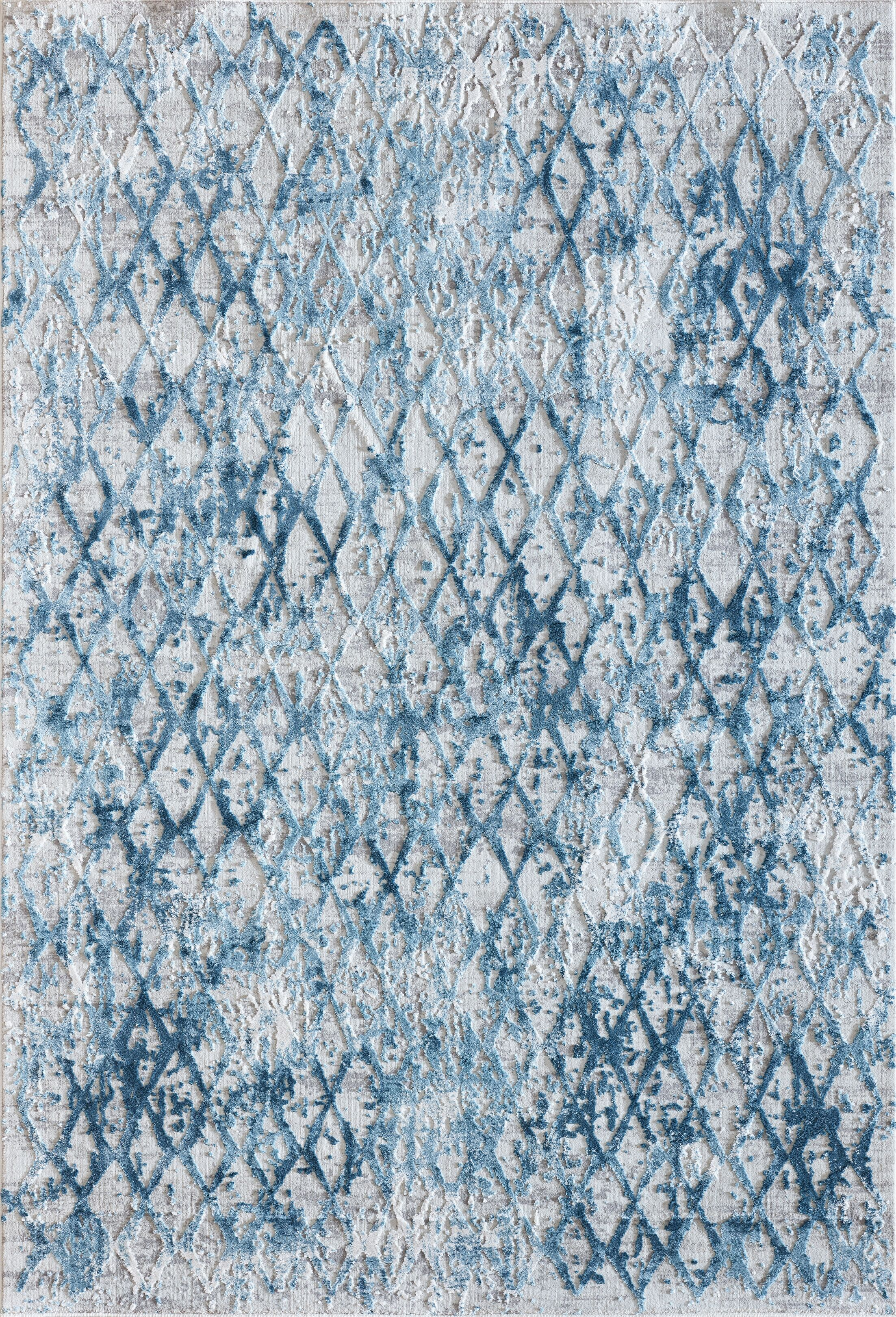 Grisby Ivory/Blue Area Rug Rug Size: Rectangle 7'10