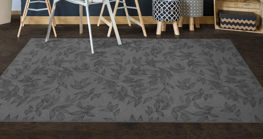 Roxana Floral Gray Area Rug Rug Size: Rectangle 5' x 8'