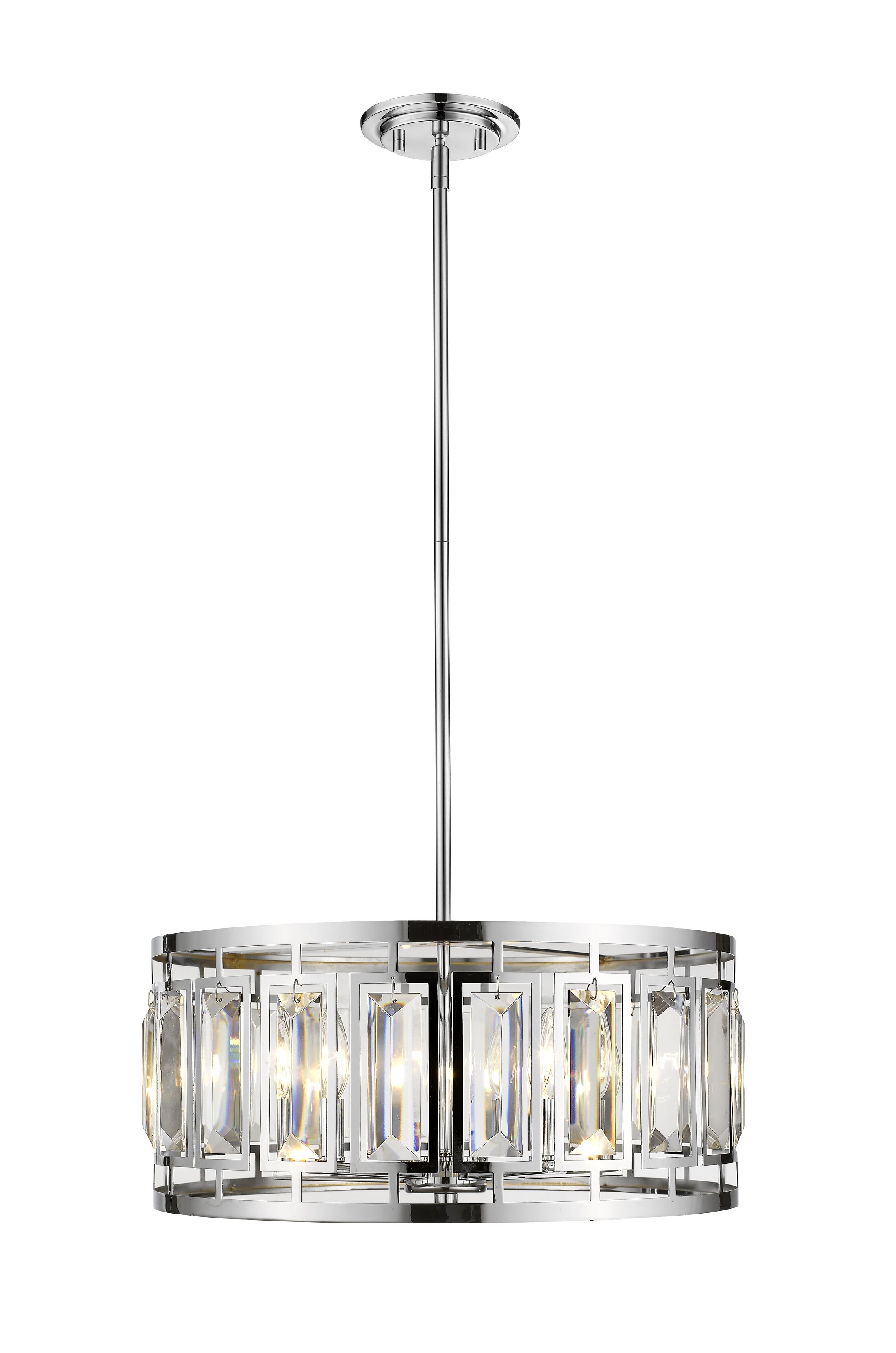 Vella 5-Light LED�Drum Pendant