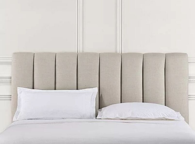 Snowhill Upholstered Panel Headboard Upholstery: Off White, Size: Queen