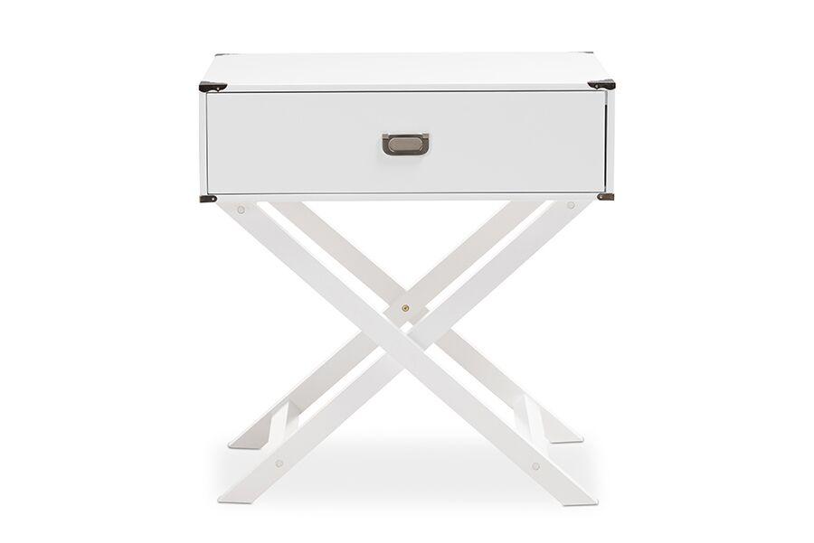 Ickenham Modern 1 Drawer Nightstand Color: White