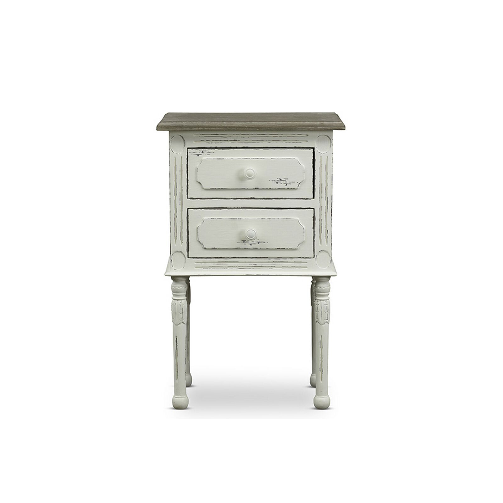 Chiverton Traditional French 2 Drawer Nightstand