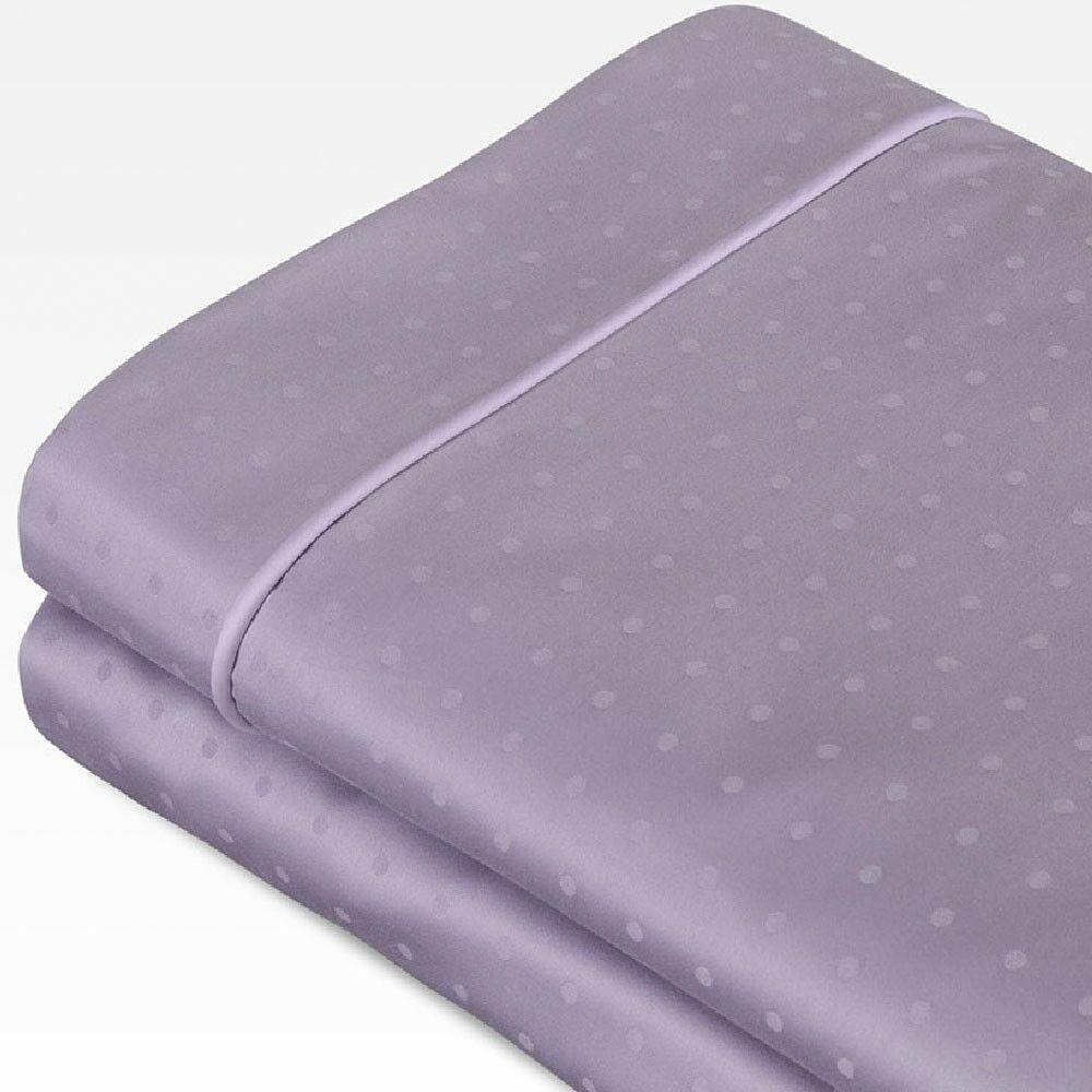 Swiss Dot Jacquard 100% Cotton 700 Thread Count Sheet Set Color: Dusk Purple, Size: Twin