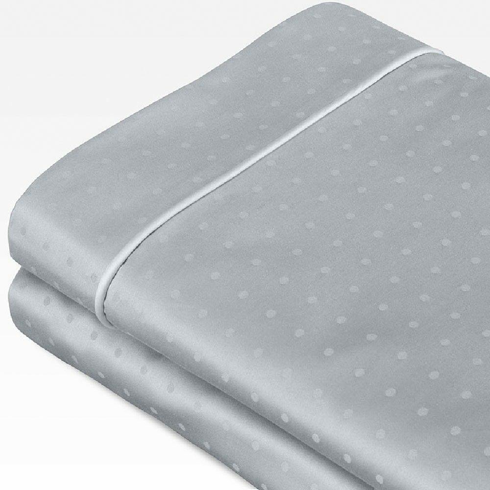 Swiss Dot Jacquard 100% Cotton 700 Thread Count Sheet Set Color: Coastal Blue, Size: Queen