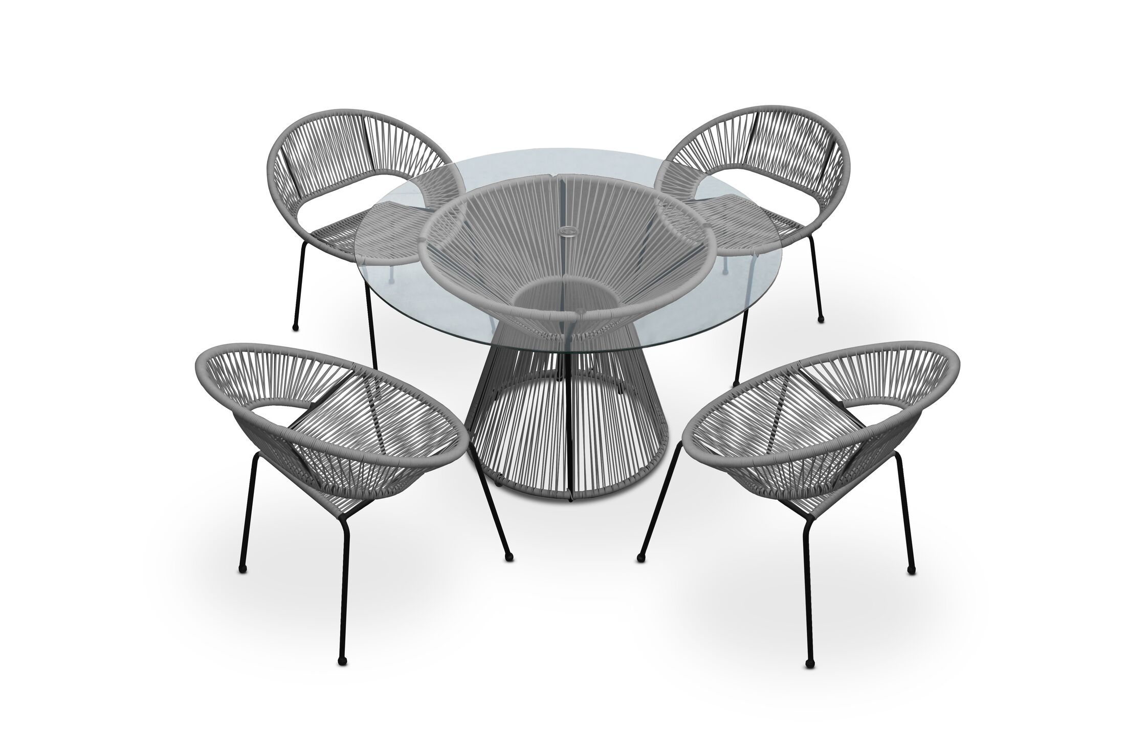 Ehrlich 5 Piece Dining Set Color: Space Gray