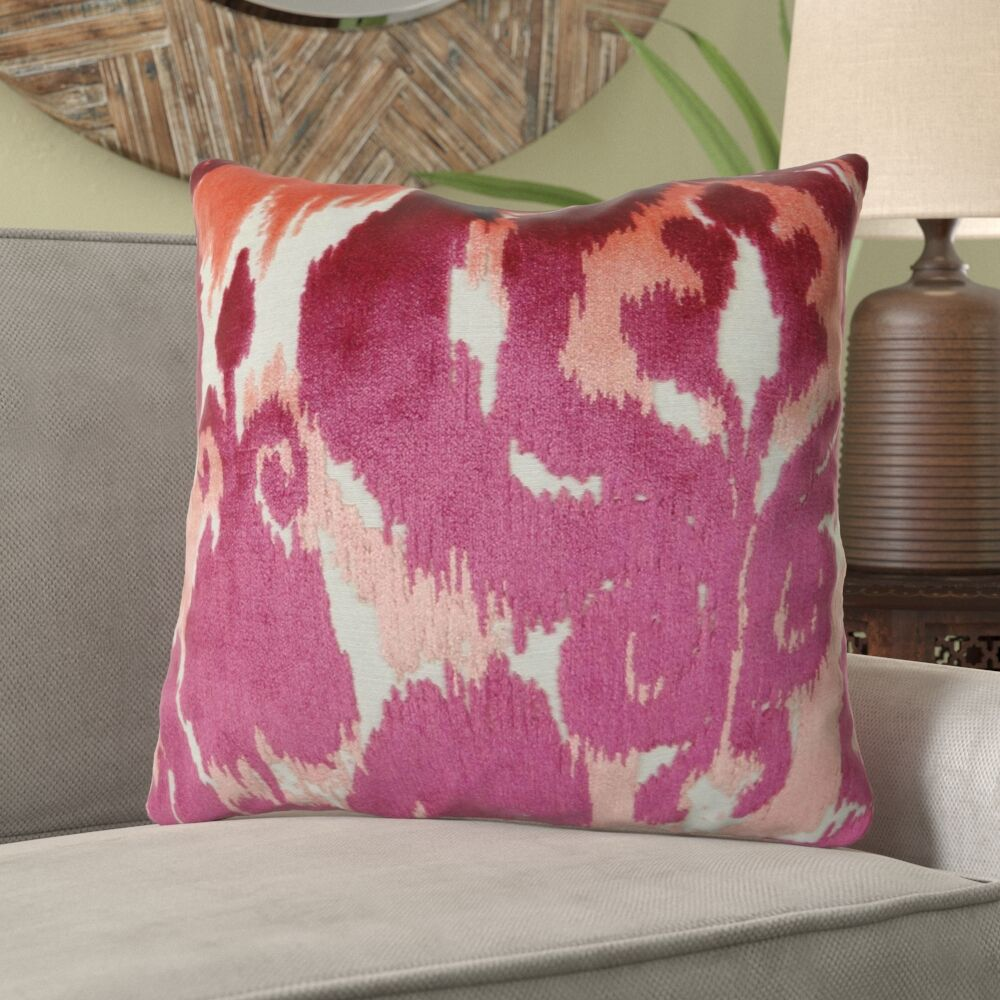 Bank Fuchsia Luxury Designer Pillow Size: 20