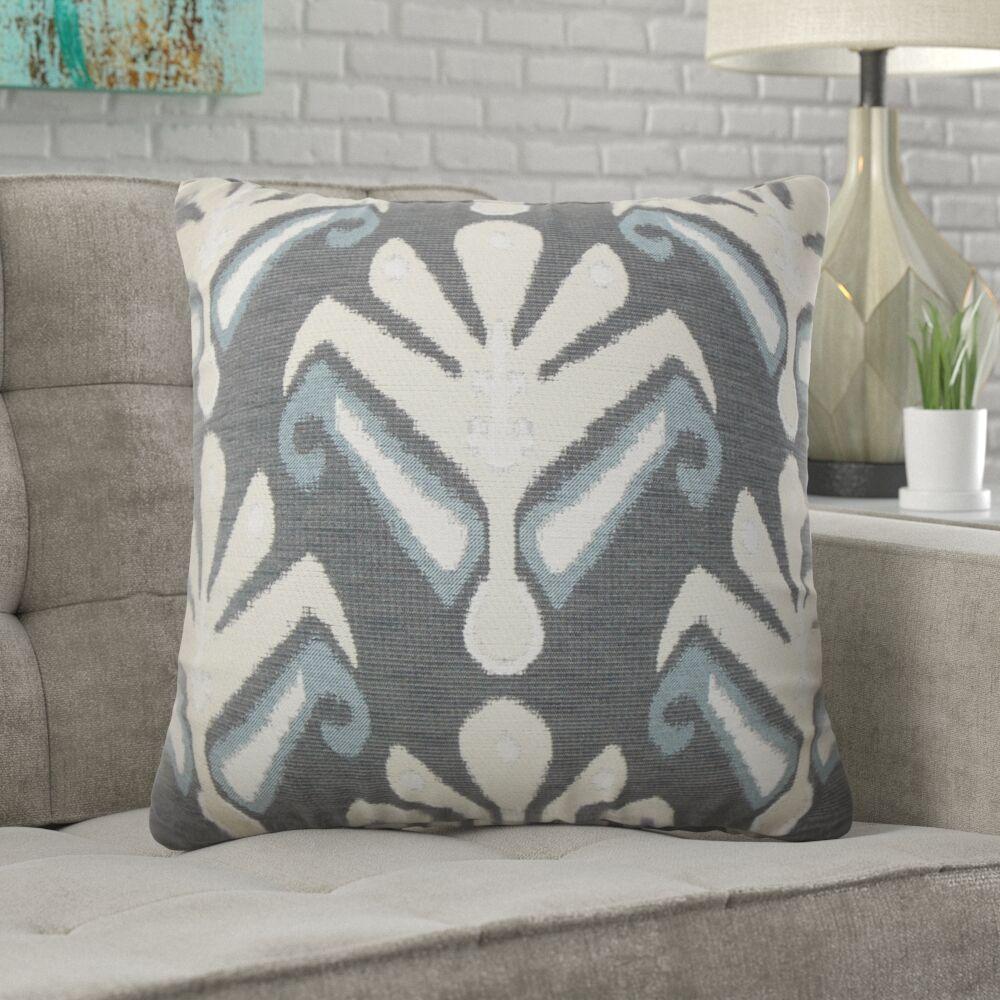 Jarosz Sullins Ikat Throw Pillow Color: Stone