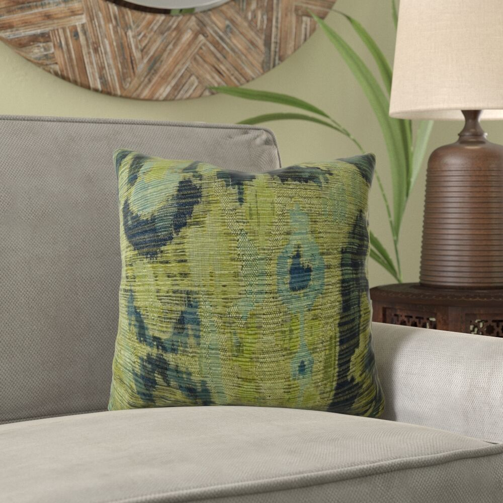 Fenland Ikat Luxury Pillow Fill Material: 95/5 Feather/Down, Size: 16