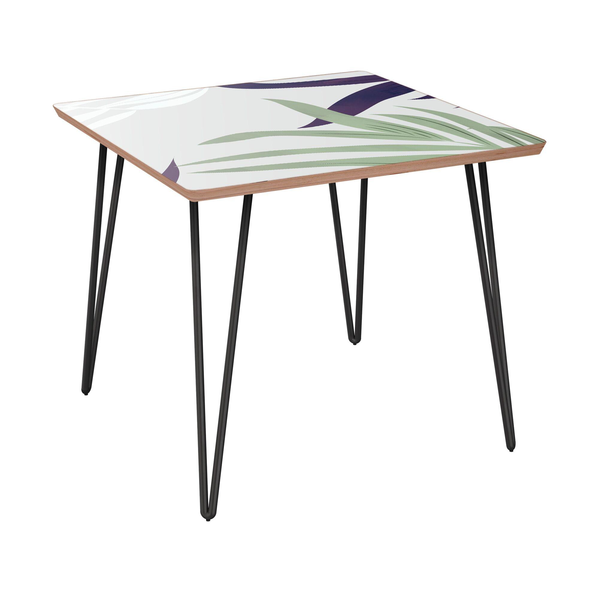 Jannie End Table Table Base Color: Black, Table Top Color: Walnut