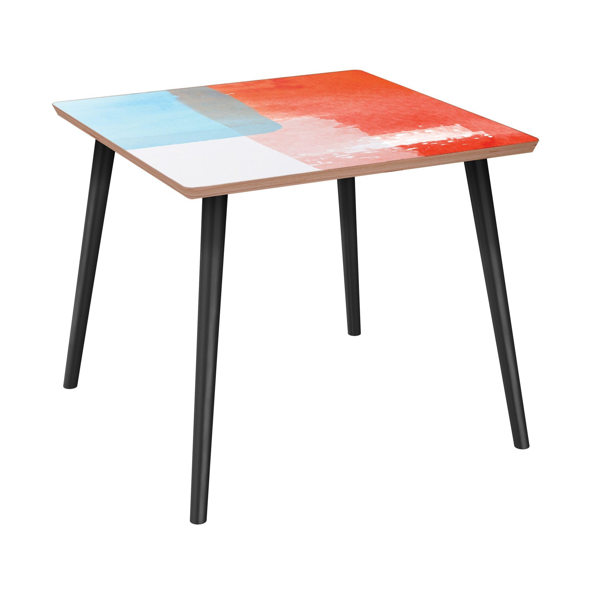 Fabre End Table Table Base Color: Black, Table Top Color: Walnut
