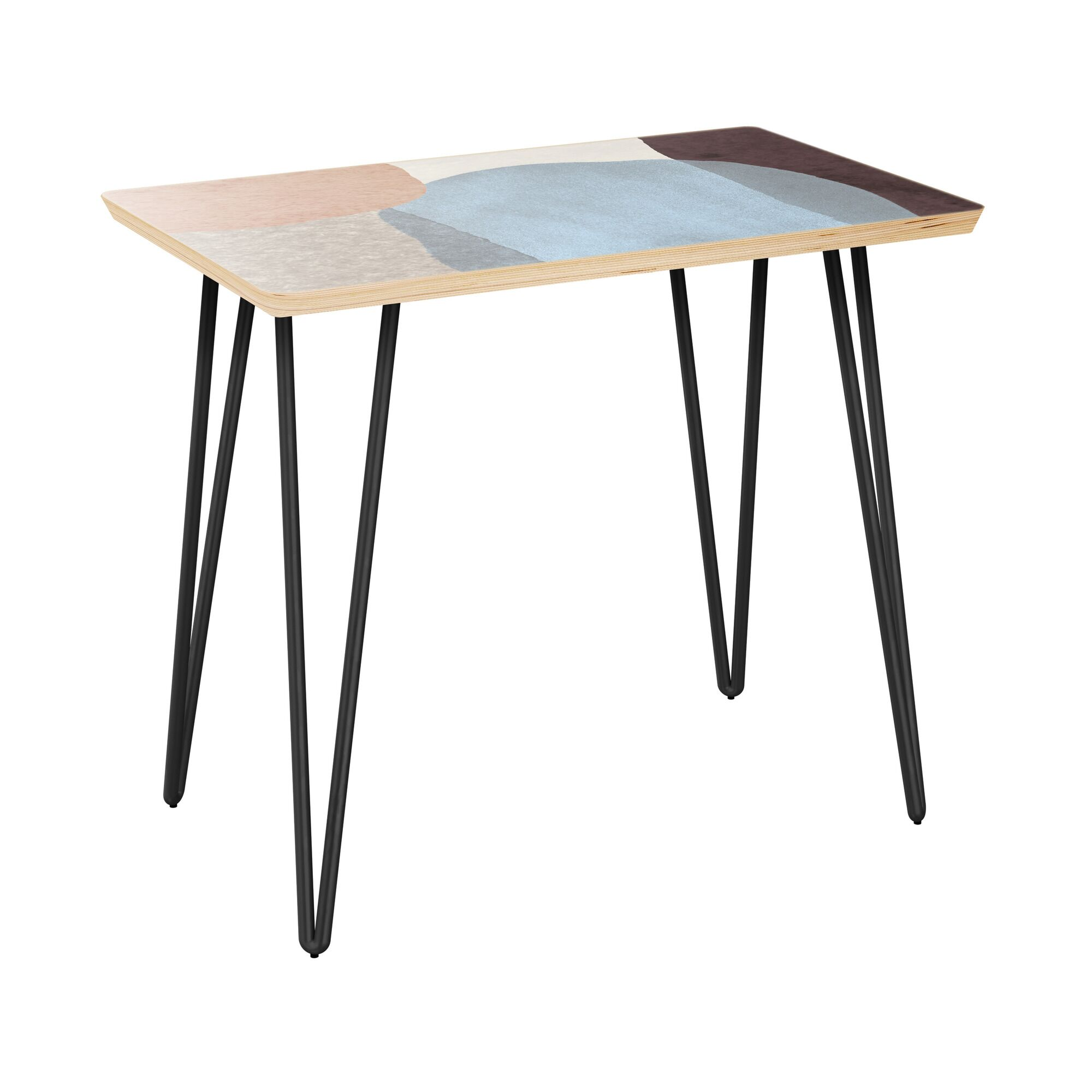 Failand End Table Table Top Color: Natural, Table Base Color: Black