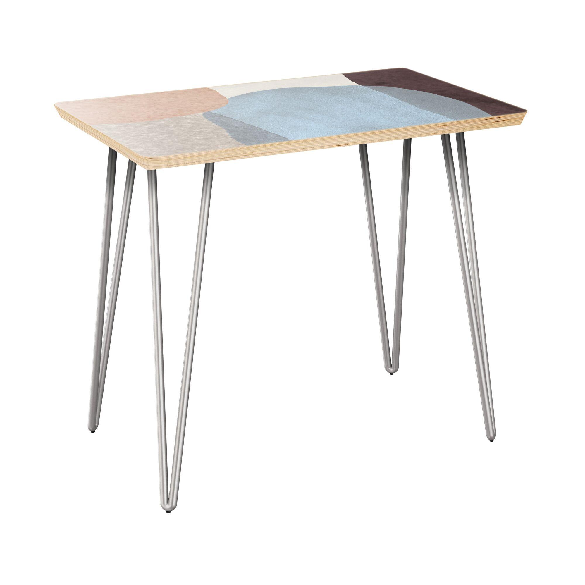 Failand End Table Table Top Color: Natural, Table Base Color: Chrome