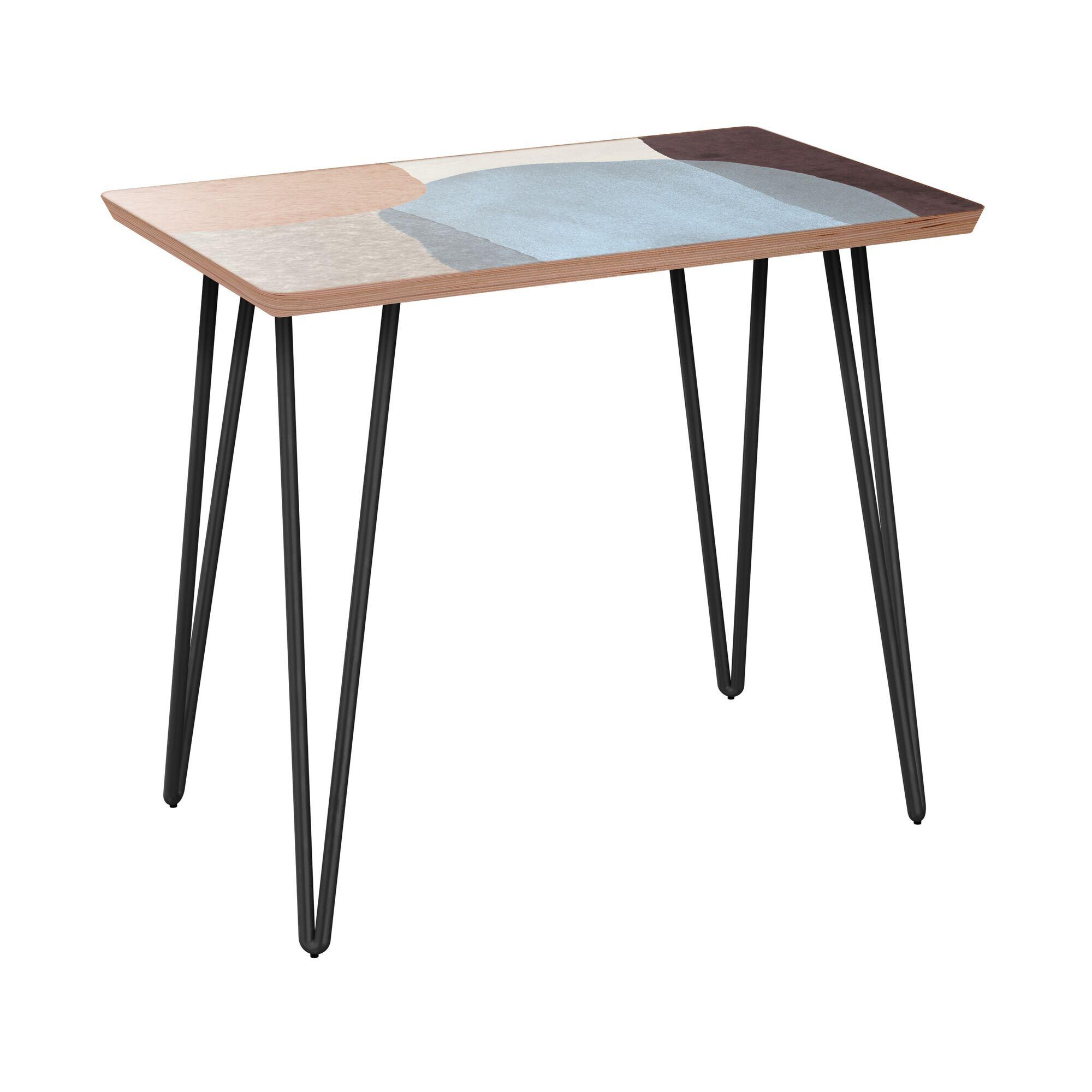 Failand End Table Table Base Color: Black, Table Top Color: Walnut