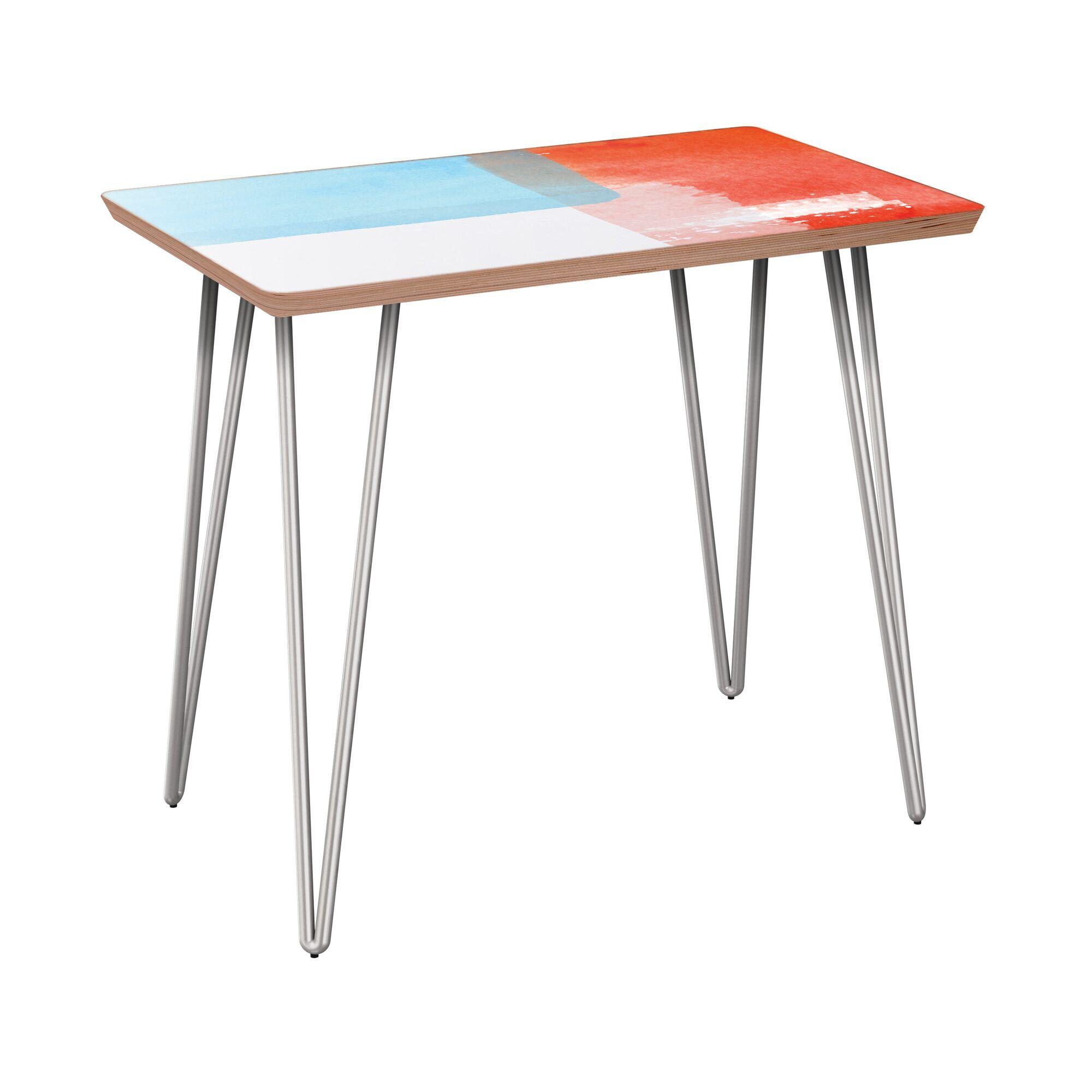 Esmont End Table Table Base Color: Chrome, Table Top Color: Walnut