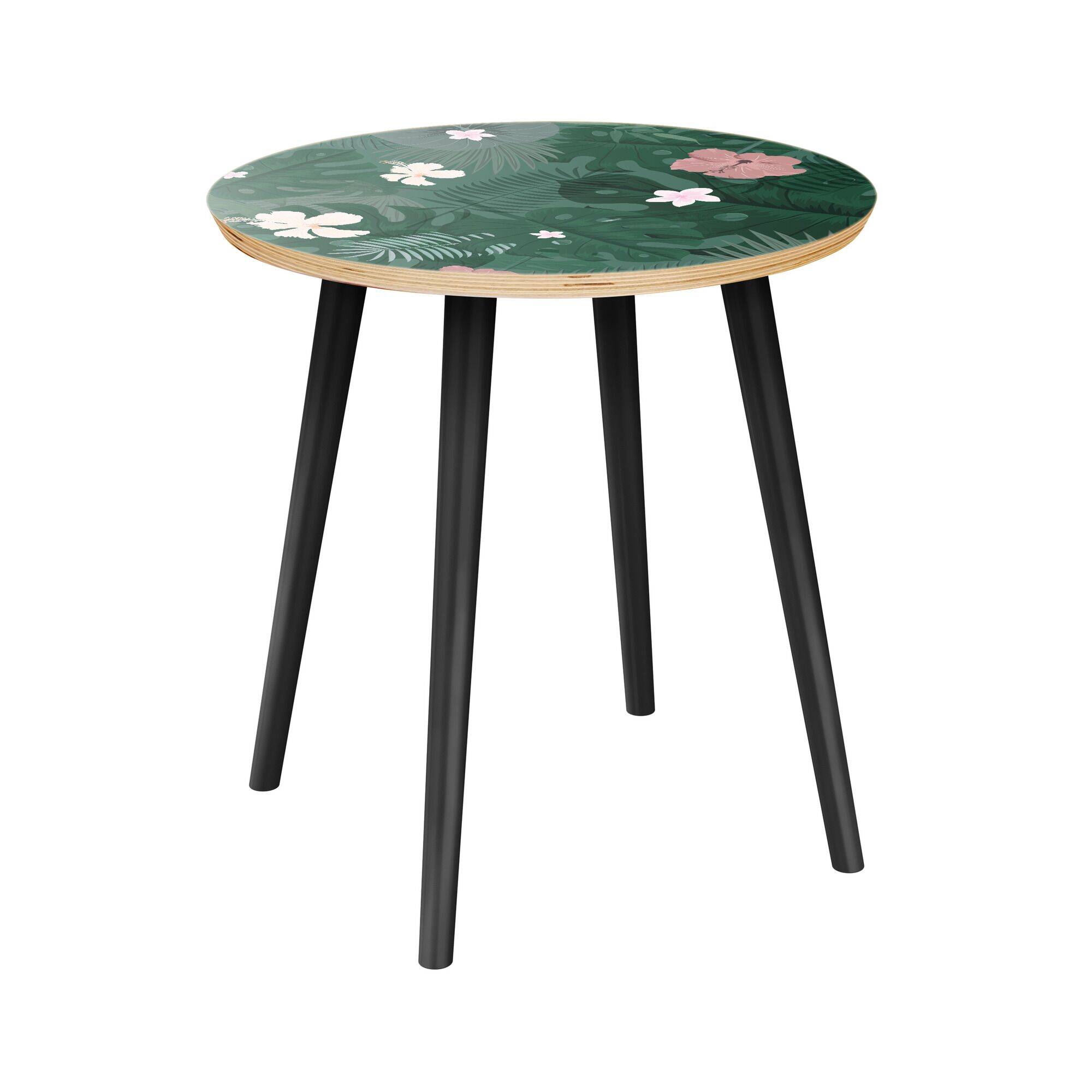 Ratley End Table Table Top Color: Natural, Table Base Color: Black