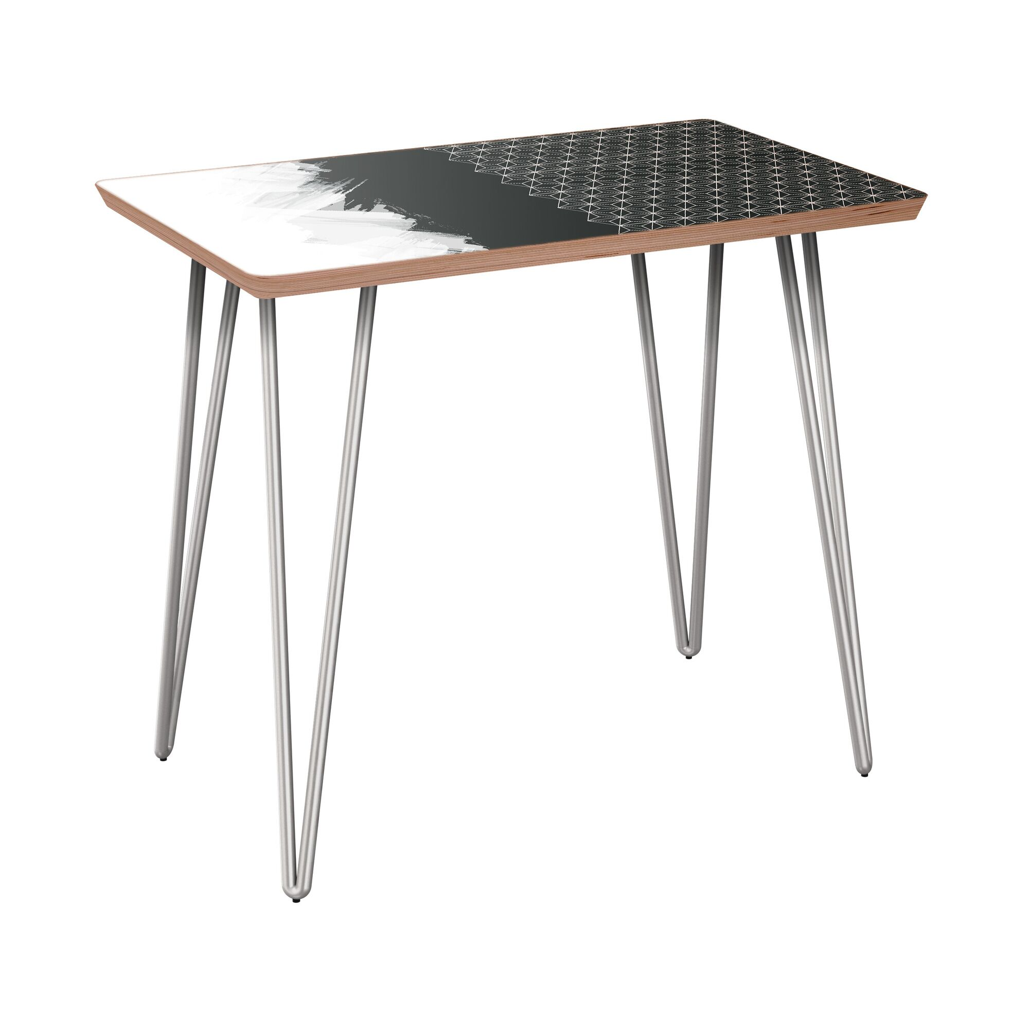 Fager End Table Table Base Color: Chrome, Table Top Color: Walnut