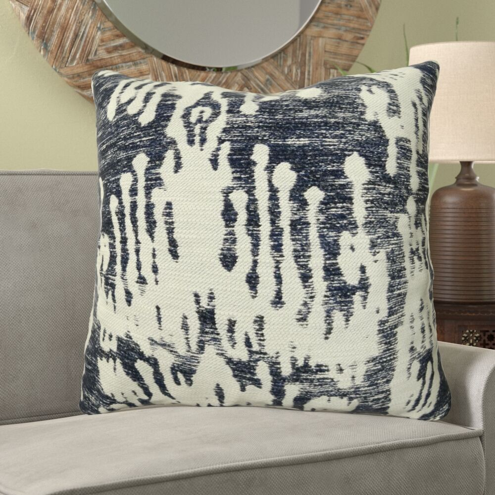 Fenland Ikat Luxury Designer Couch Pillow Size: 22