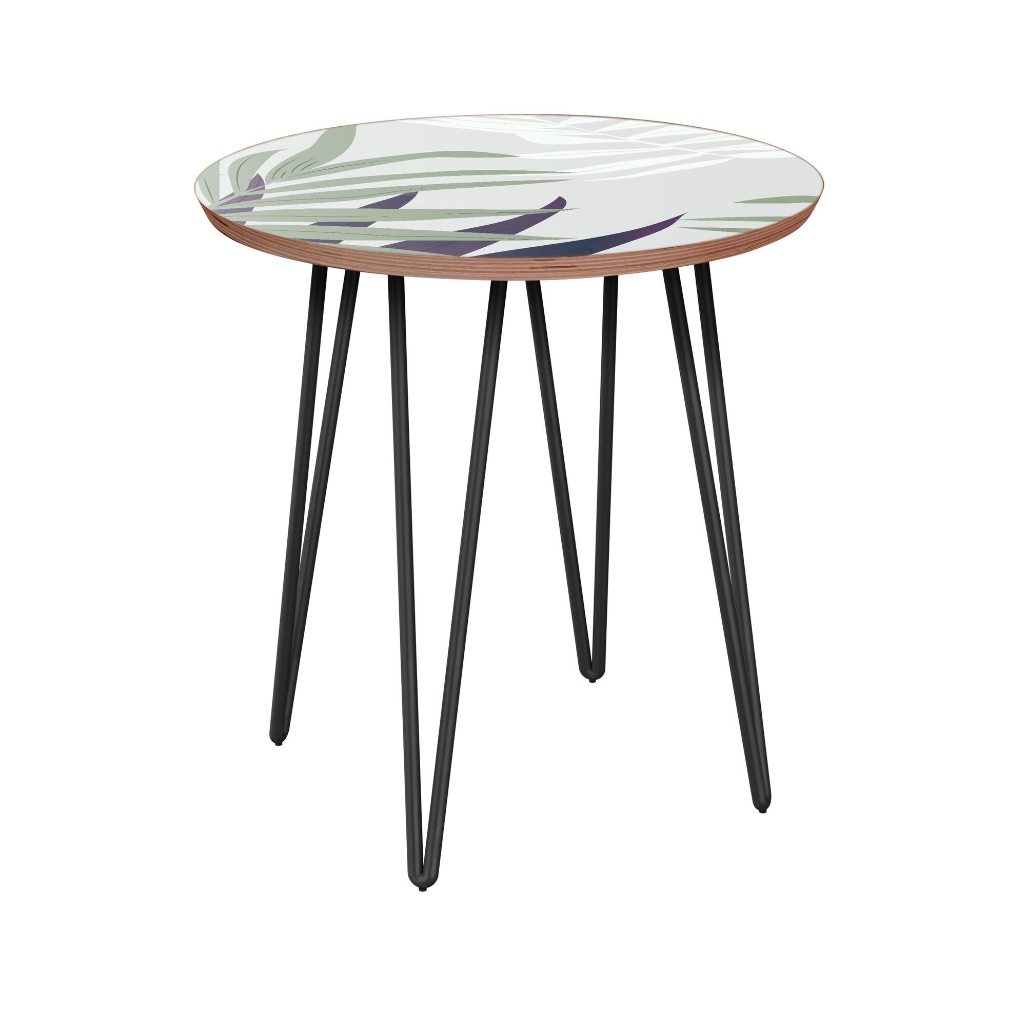 Irvona End Table Table Base Color: Black, Table Top Color: Walnut