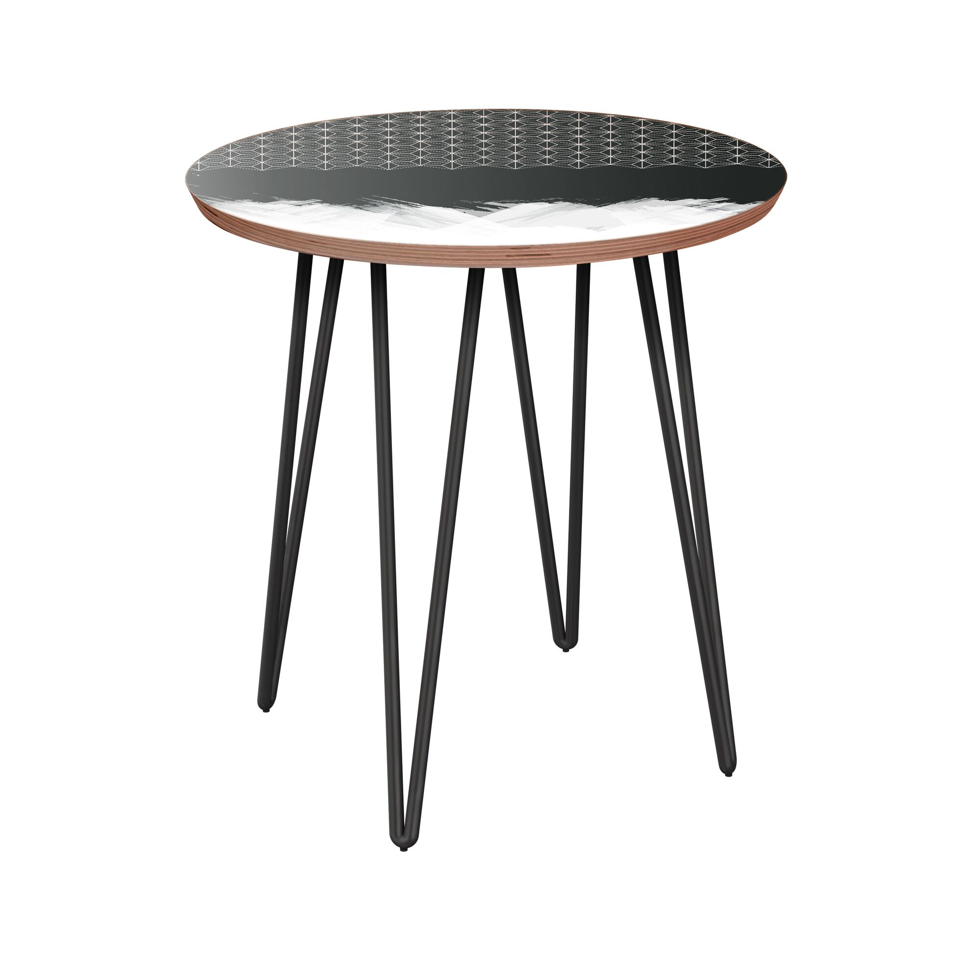 Etna End Table Table Base Color: Black, Table Top Color: Walnut