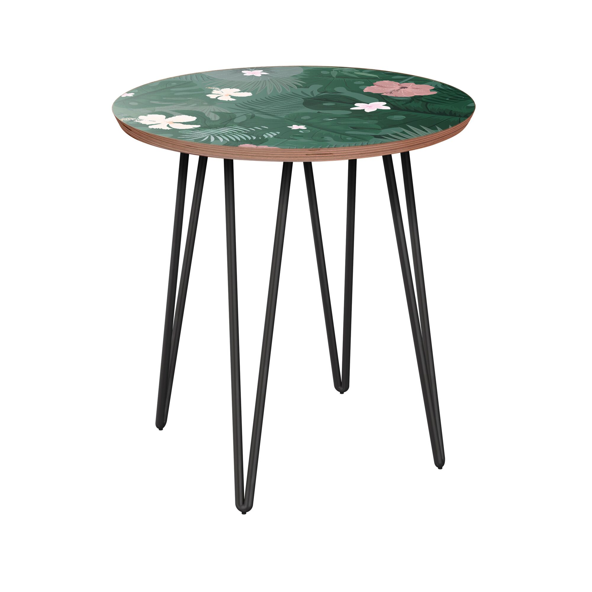 Rather End Table Table Base Color: Black, Table Top Color: Walnut