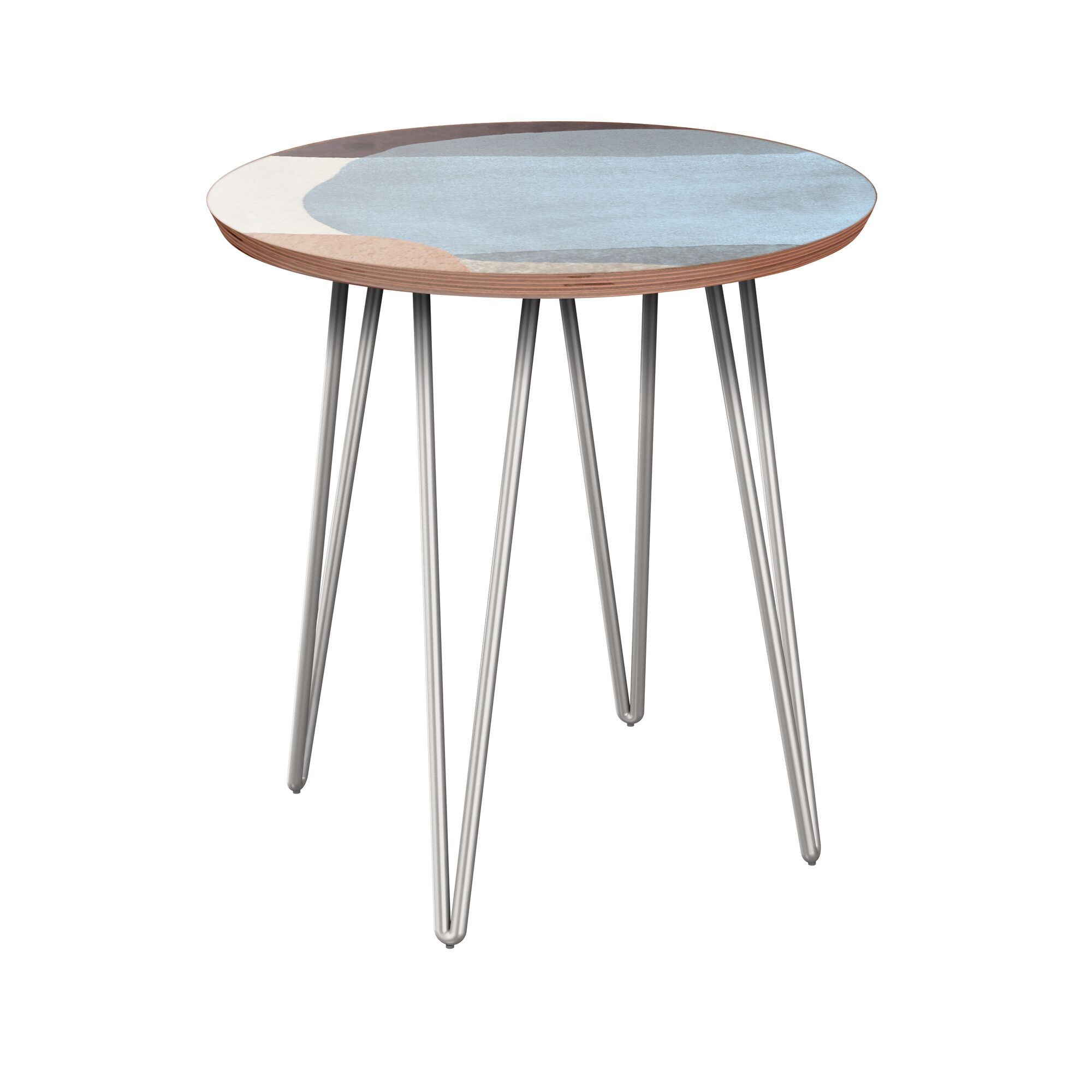 Eslick End Table Table Base Color: Chrome, Table Top Color: Walnut