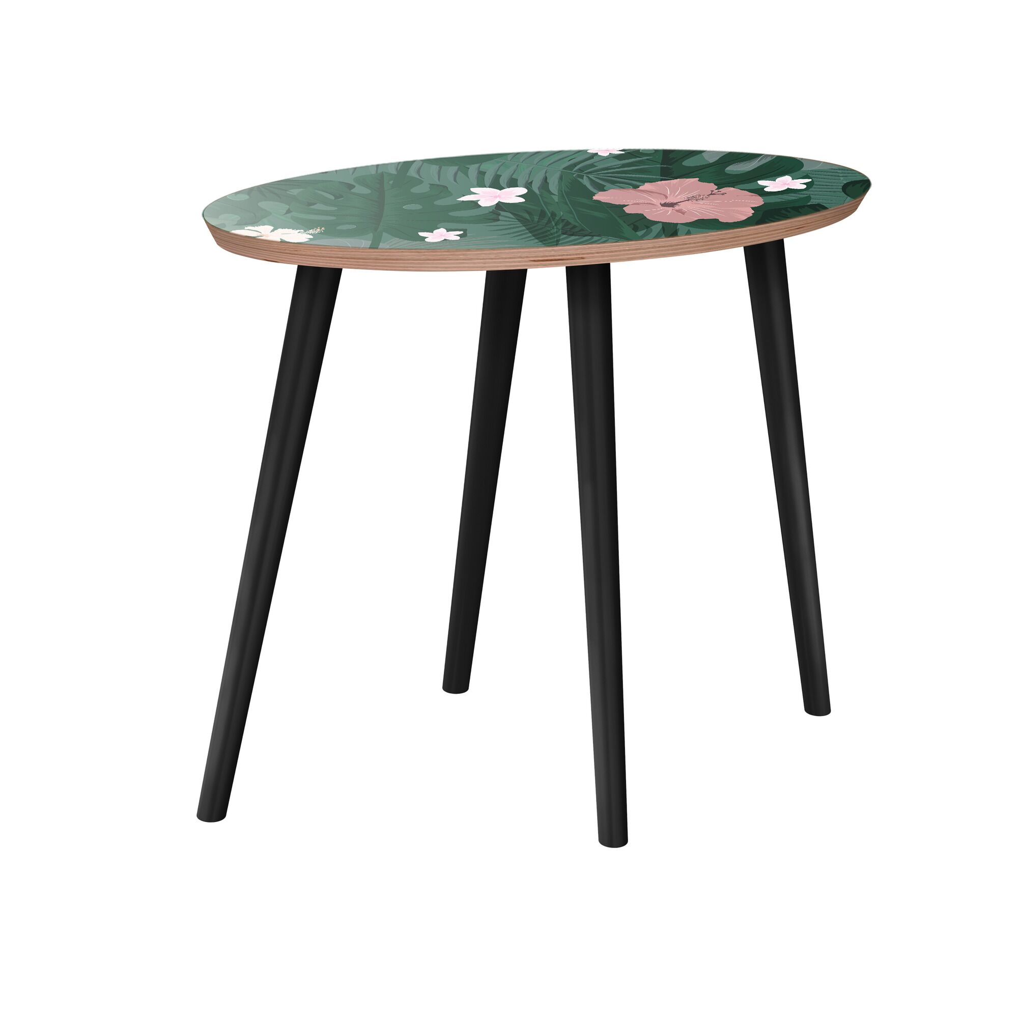 Killdeer End Table Table Base Color: Black, Table Top Color: Walnut