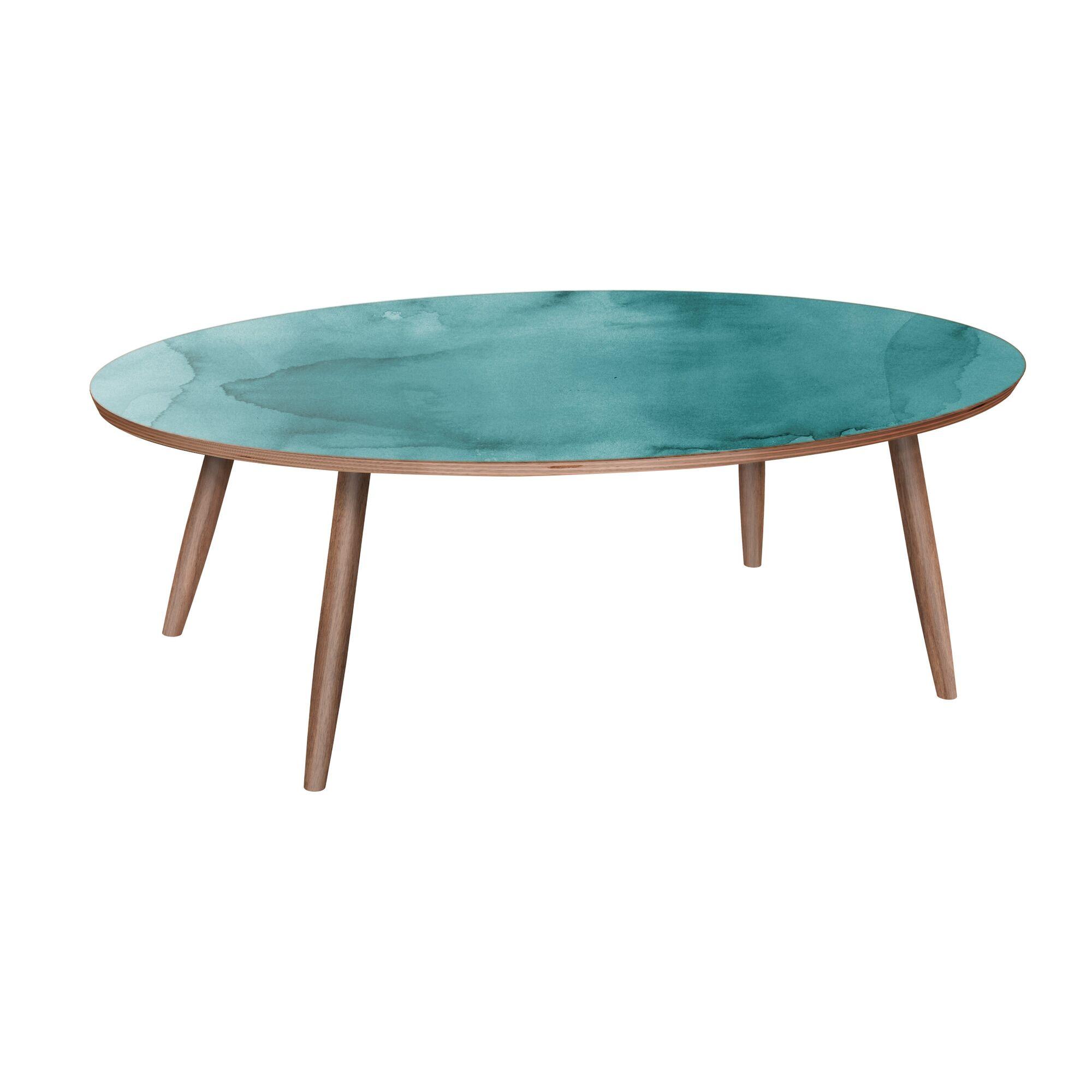 Latosha Coffee Table Table Base Color: Walnut, Table Top Color: Pink