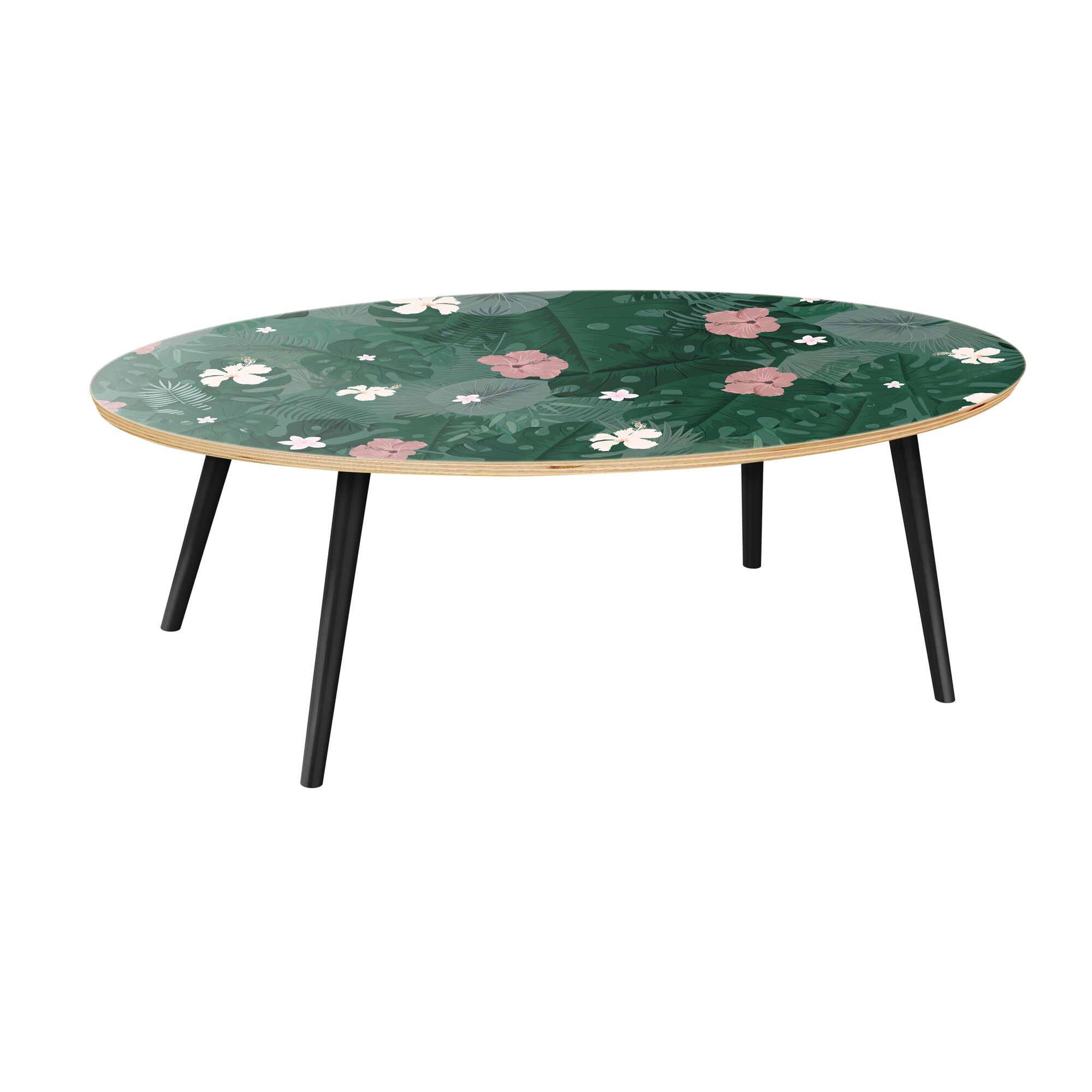 Scheidt Coffee Table Table Top Color: Natural, Table Base Color: Black