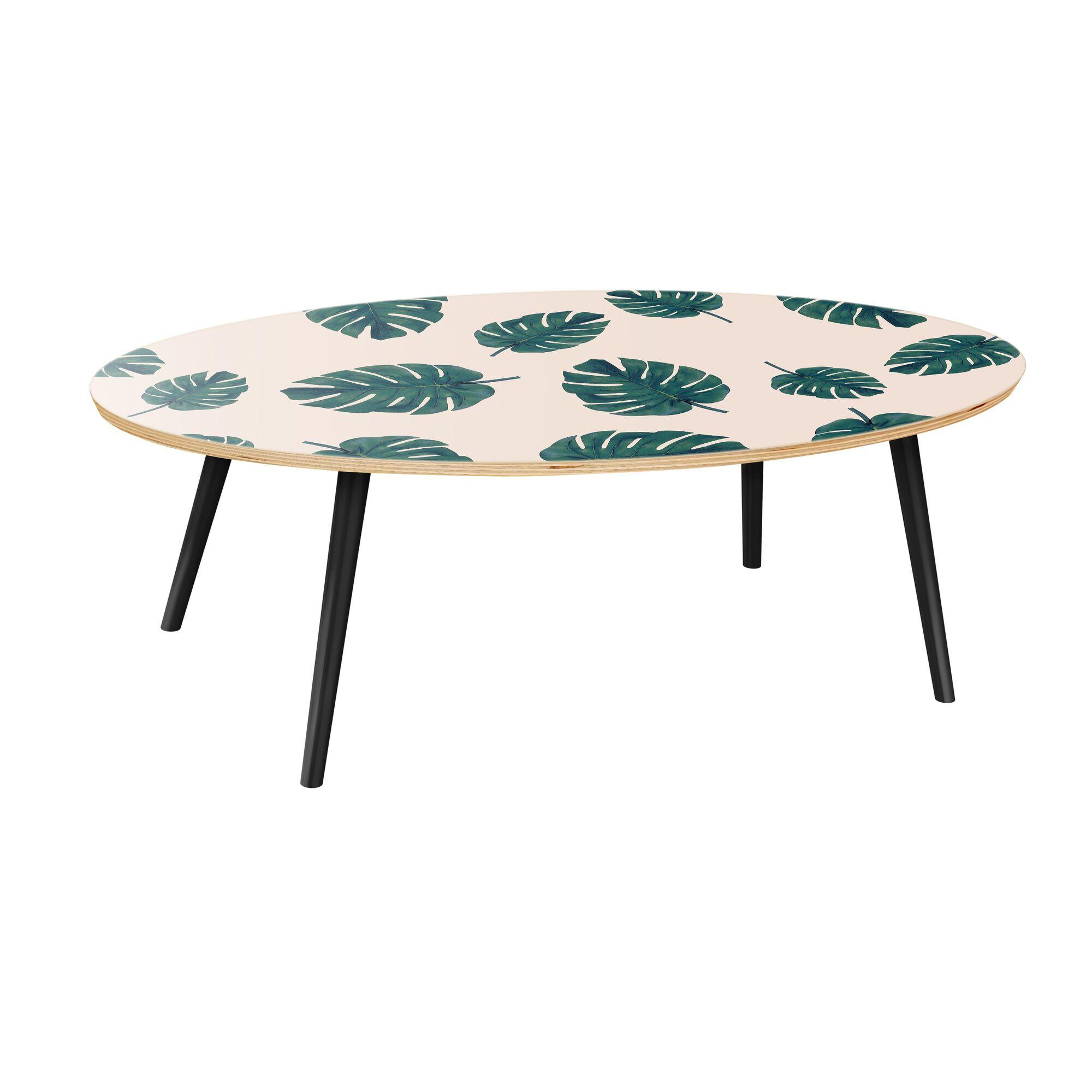 Scheel Coffee Table Table Base Color: Black, Table Top Color: Natural