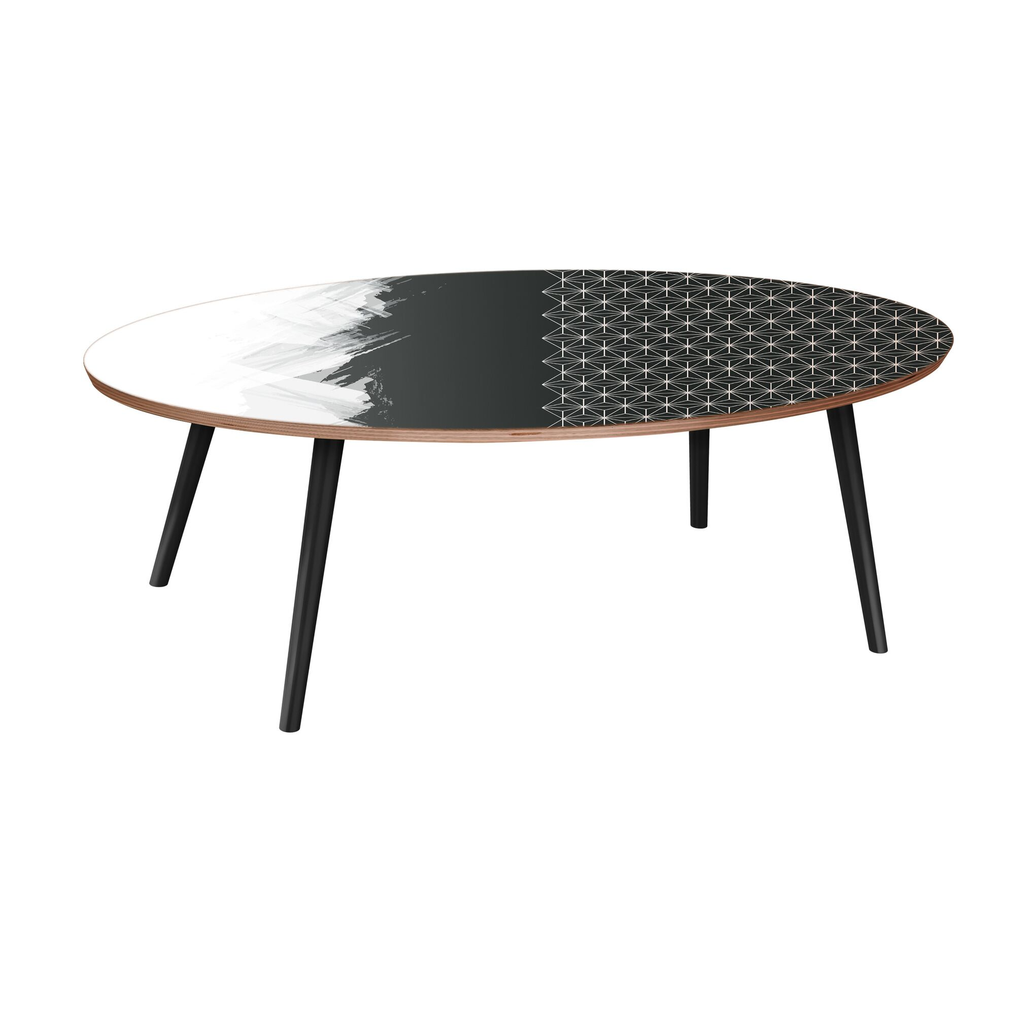 Essex Street Coffee Table Table Base Color: Black, Table Top Color: Walnut