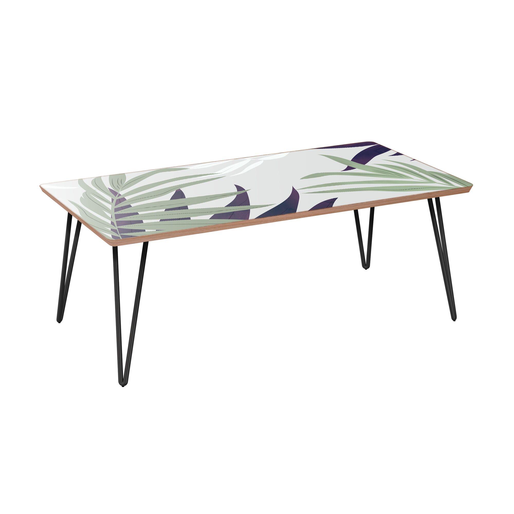 Retzlaff Coffee Table Table Base Color: Black, Table Top Color: Walnut
