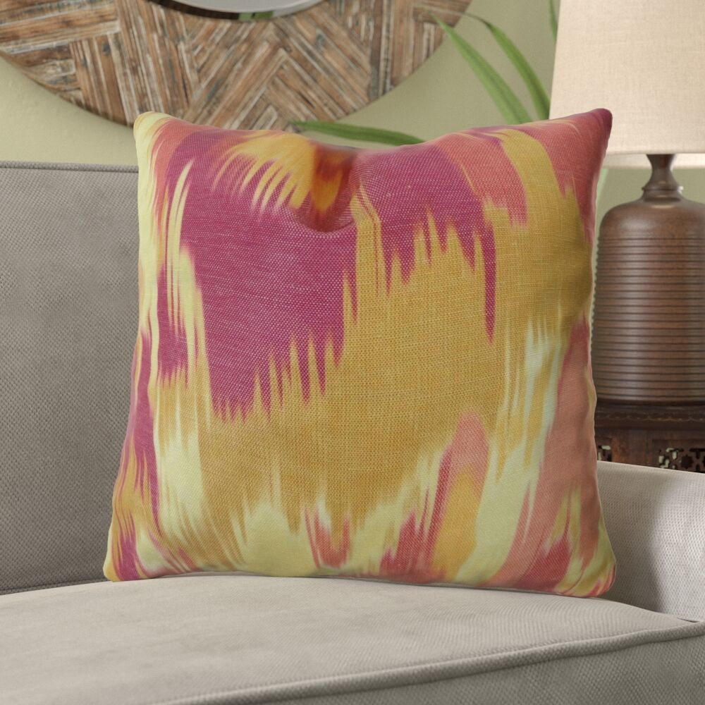 Fenland Ikat Designer Decorative Pillow Fill Material: Cover Only - No Insert, Size: 12