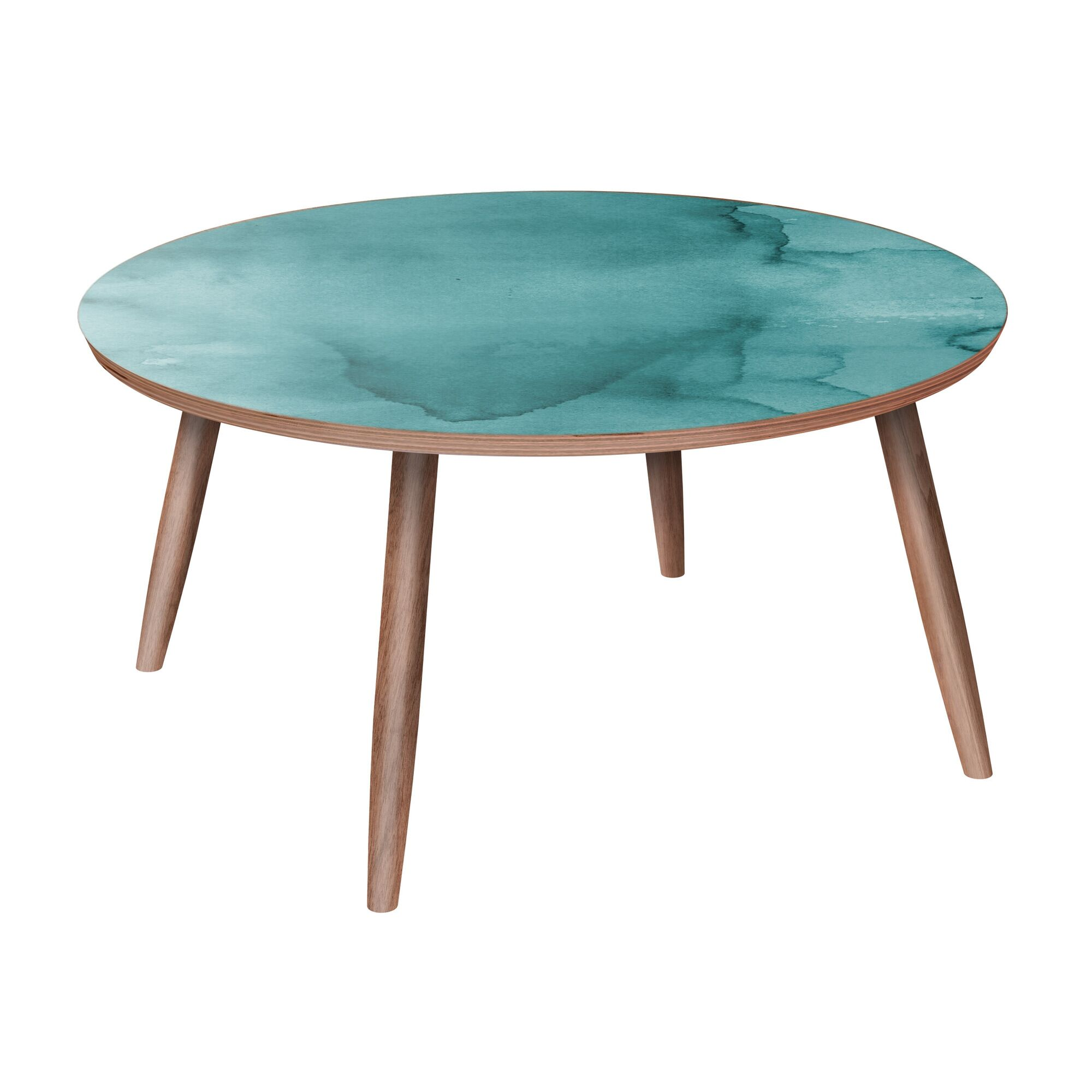 Madeira Coffee Table Table Base Color: Walnut, Table Top Color: Pink