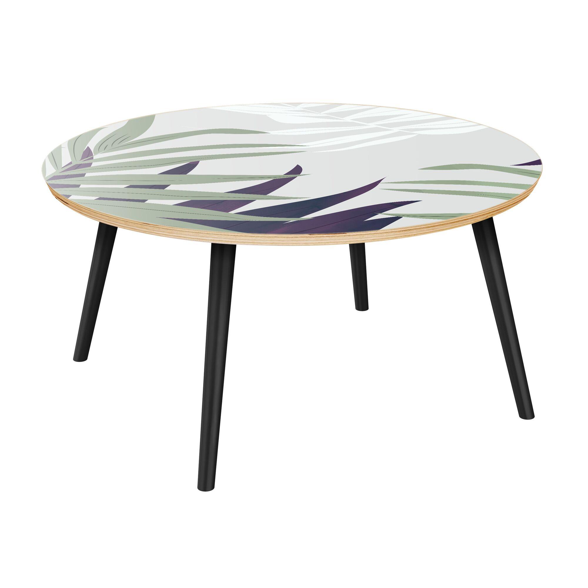 Schermerhorn Coffee Table Table Top Color: Natural, Table Base Color: Black