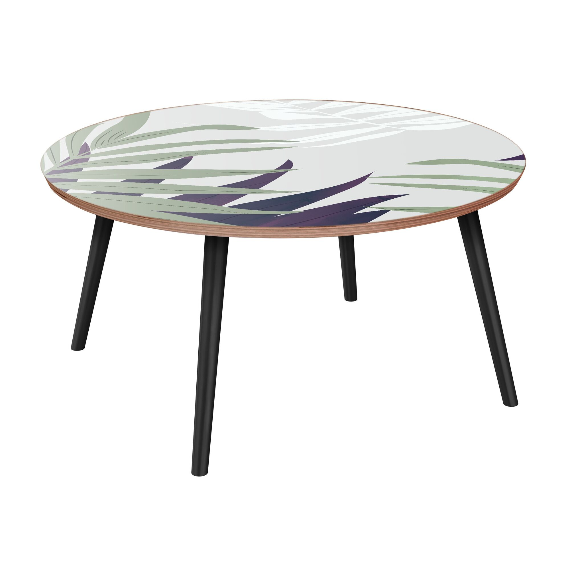 Schermerhorn Coffee Table Table Top Color: Walnut, Table Base Color: Black