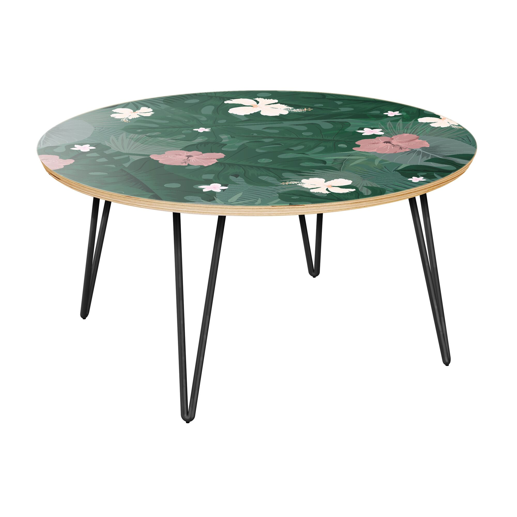 Schick Coffee Table Table Top Color: Natural, Table Base Color: Black