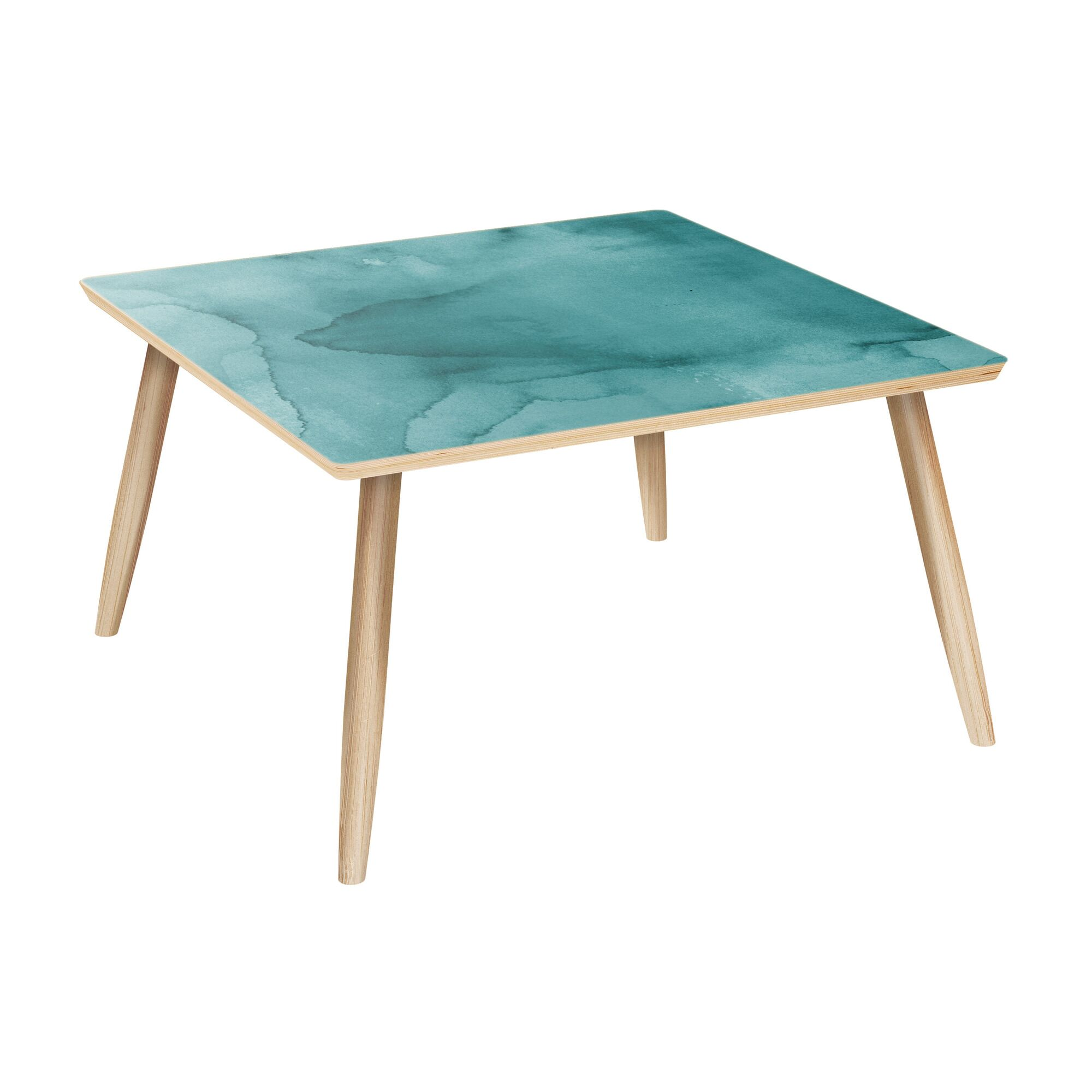 Malinda Coffee Table Table Base Color: Natural, Table Top Color: Pink