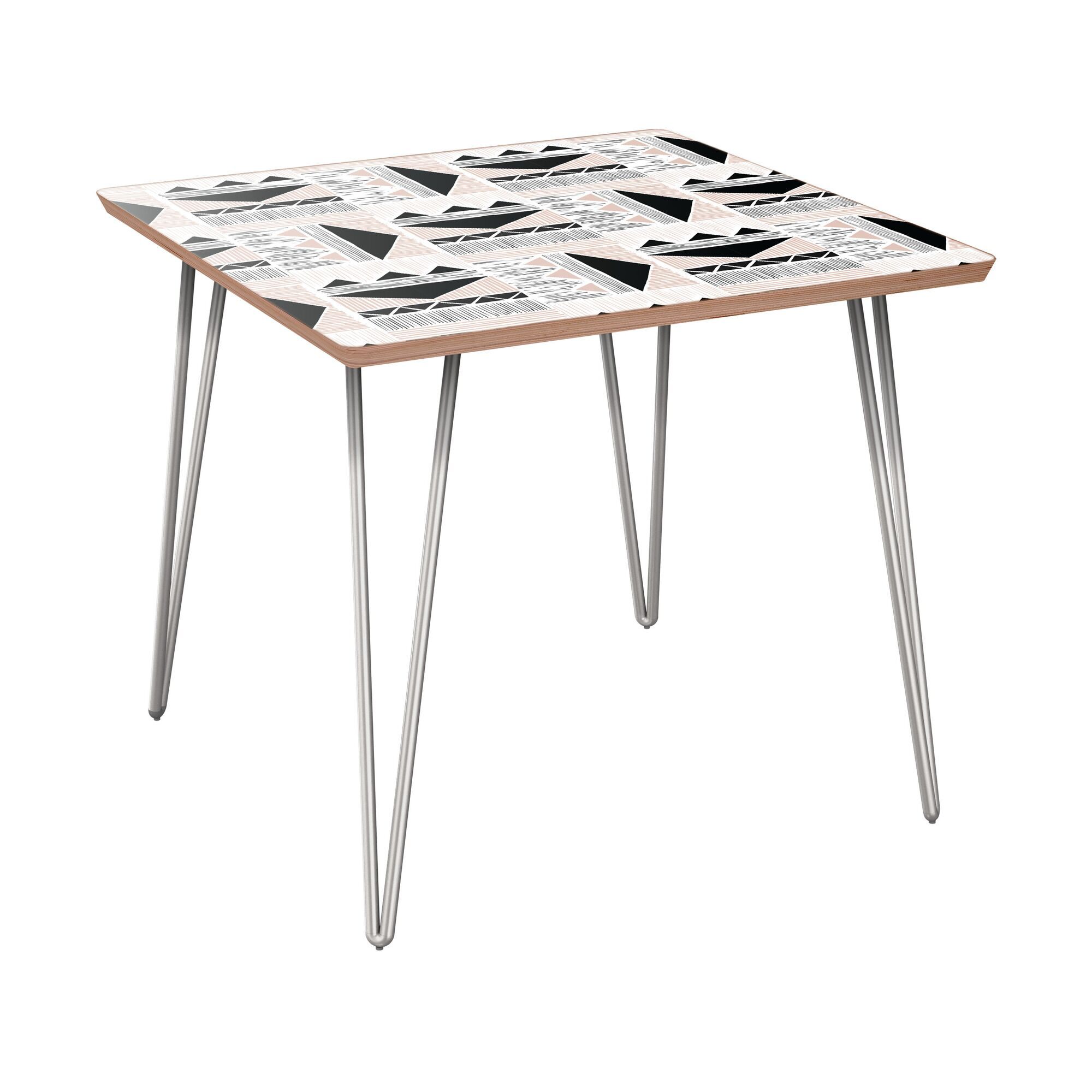 Houpt End Table Table Base Color: Chrome, Table Top Color: Walnut