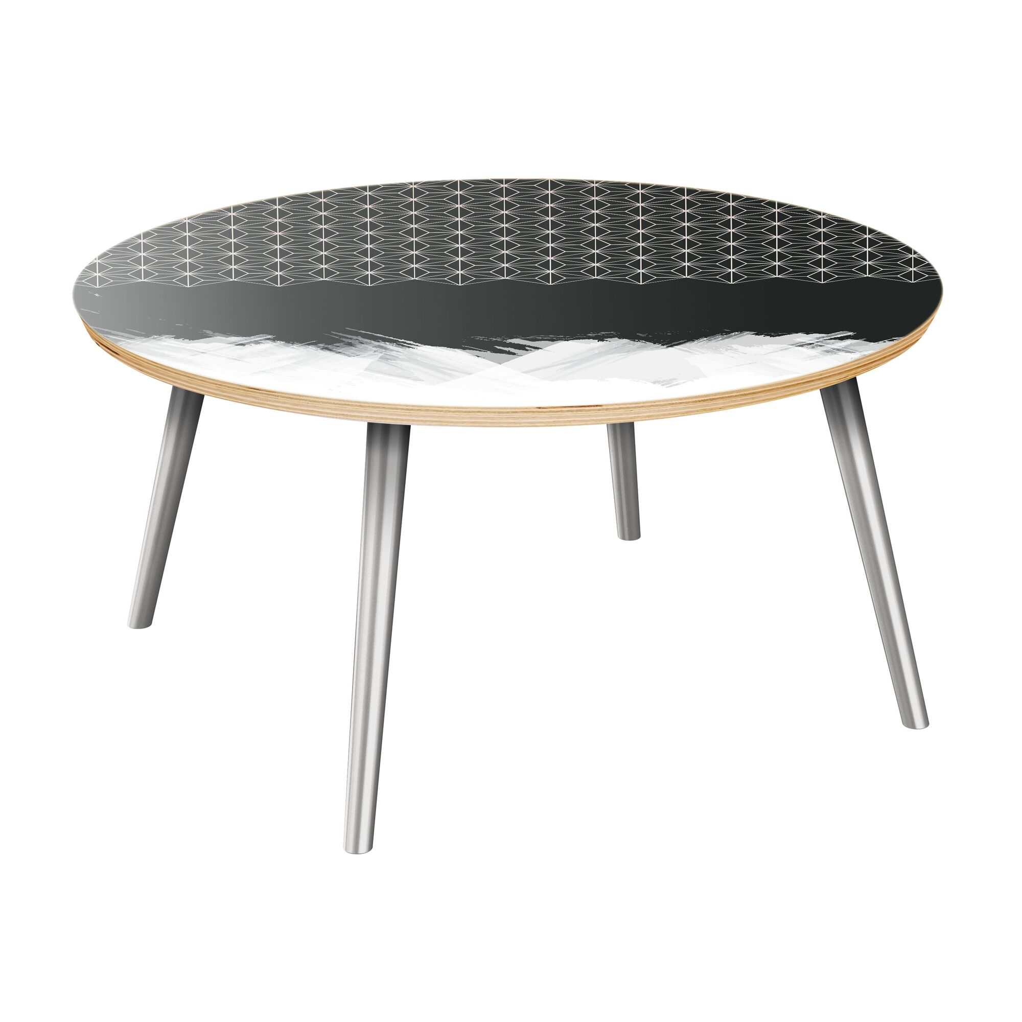 Evanoff Coffee Table Table Top Color: Natural, Table Base Color: Chrome