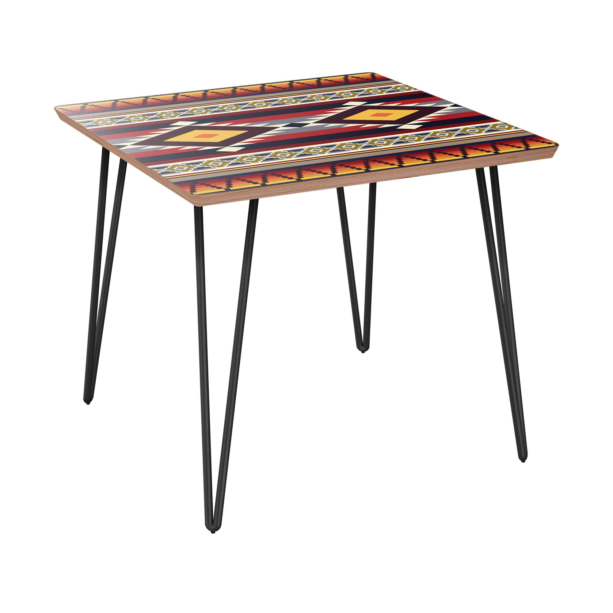 Ischua End Table Table Base Color: Black, Table Top Color: Walnut