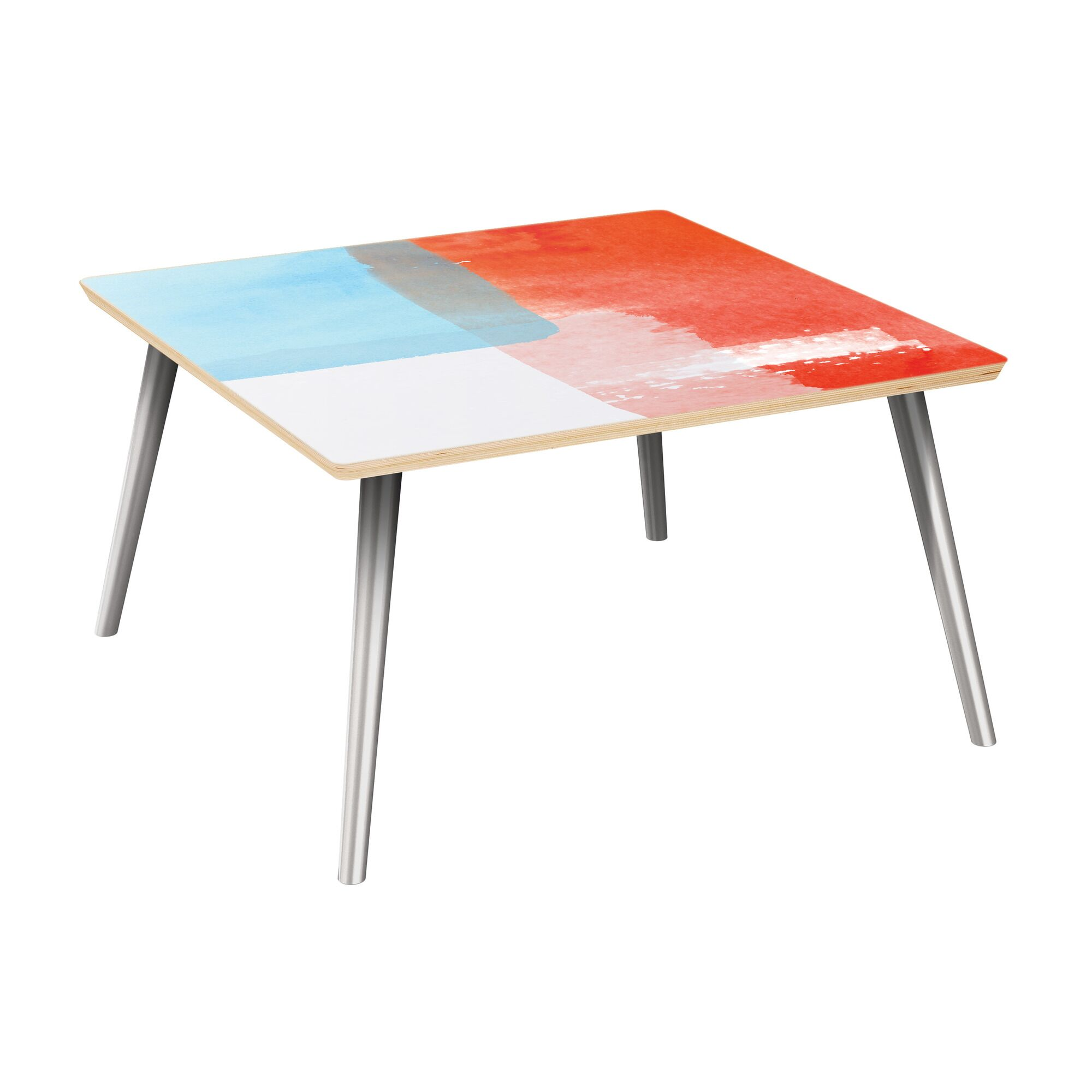 Estill Coffee Table Table Top Color: Natural, Table Base Color: Chrome
